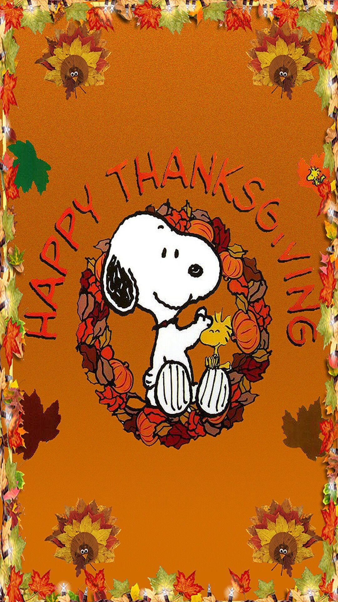 Res: 1080x1920, Snoopy Happy Thanksgiving Wallpaper -Zedge