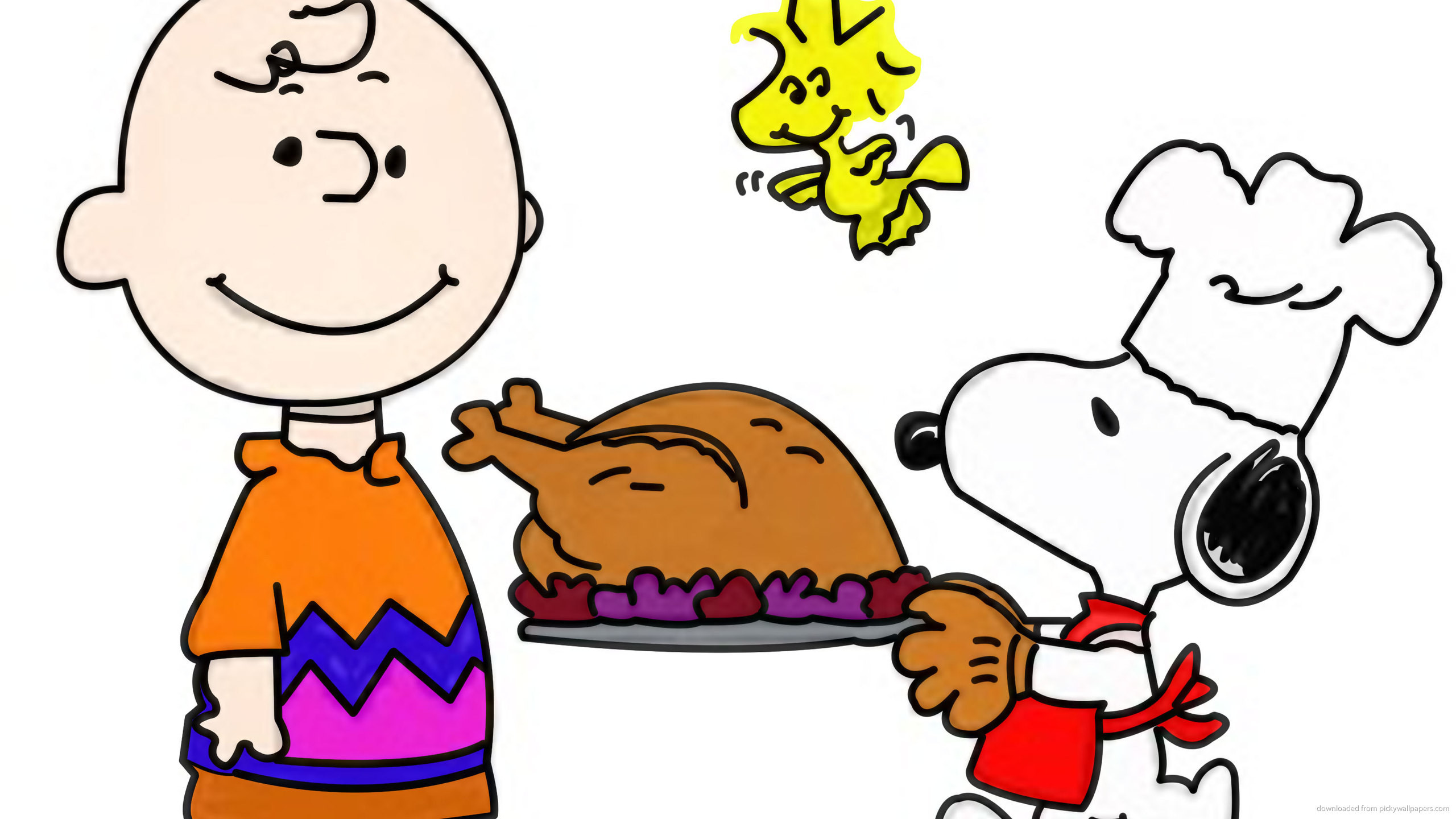 Res: 2560x1440, Snoopy Thanksgiving wallpaper