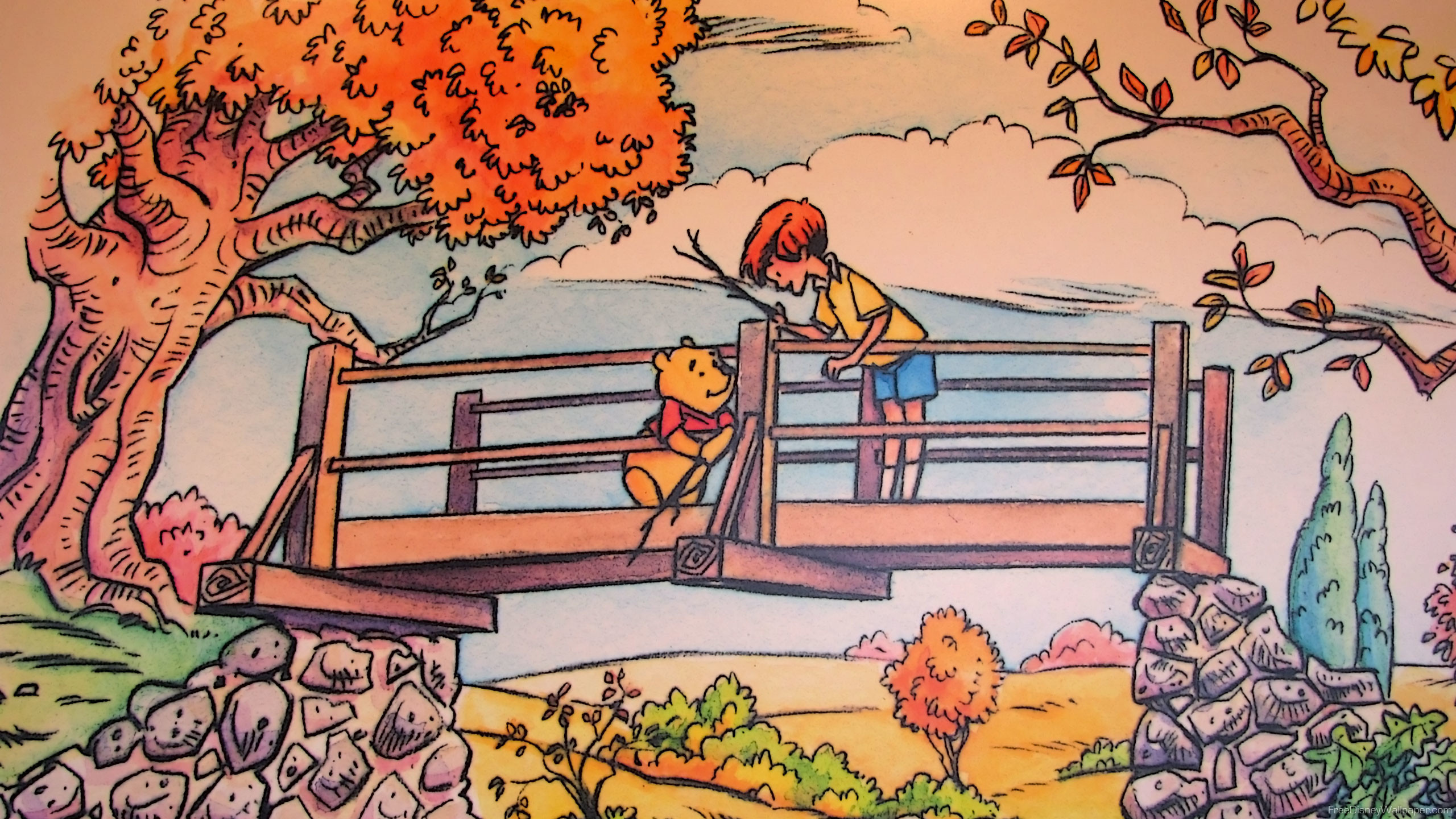Res: 2560x1440, Winnie the pooh thanksgiving dinner with. Feast wallpaper picture