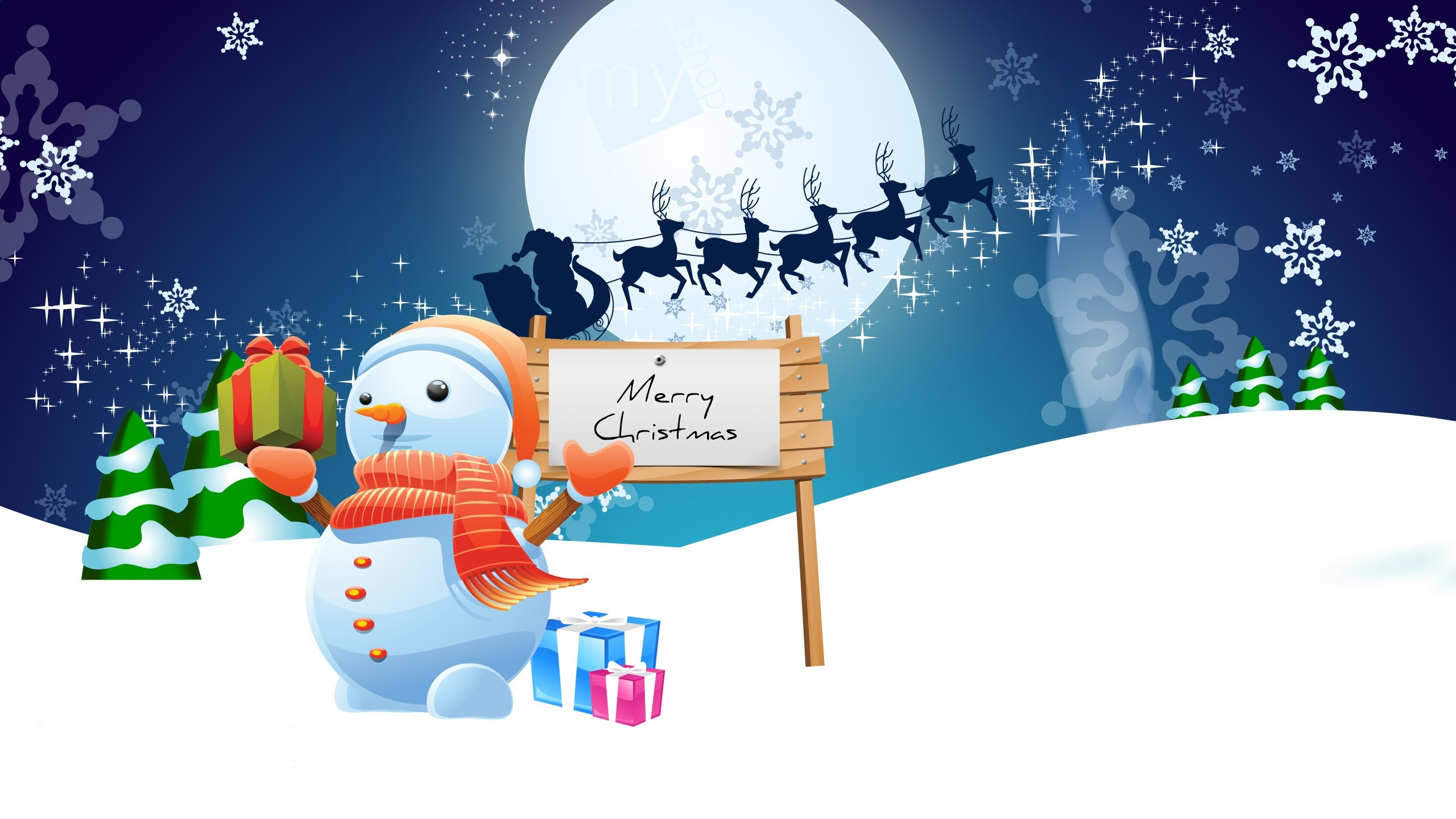 Res: 2560x1440, 40 Animated Christmas Wallpapers For 2015