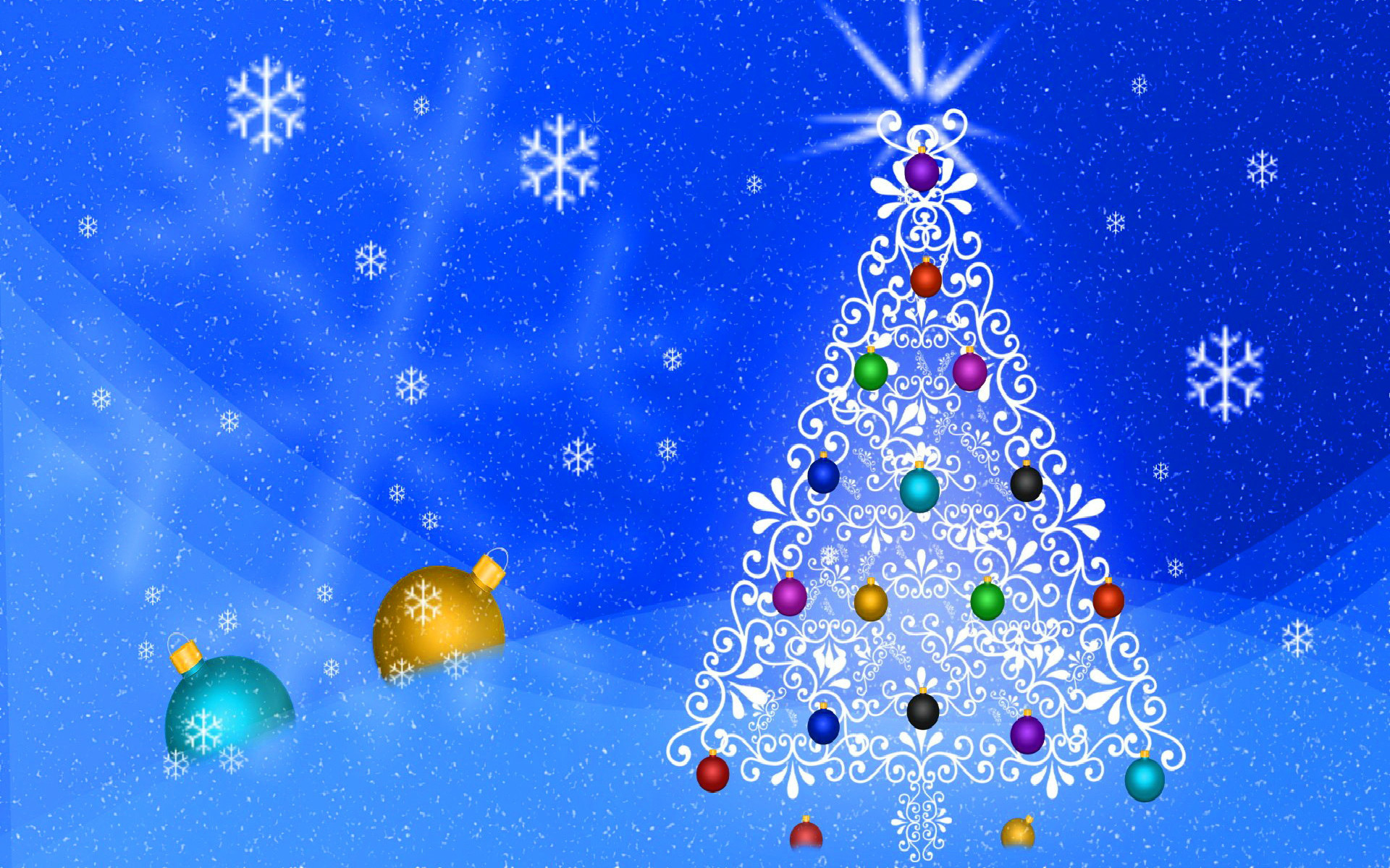 Res: 1920x1200, 14 White Christmas Tree Wallpapers