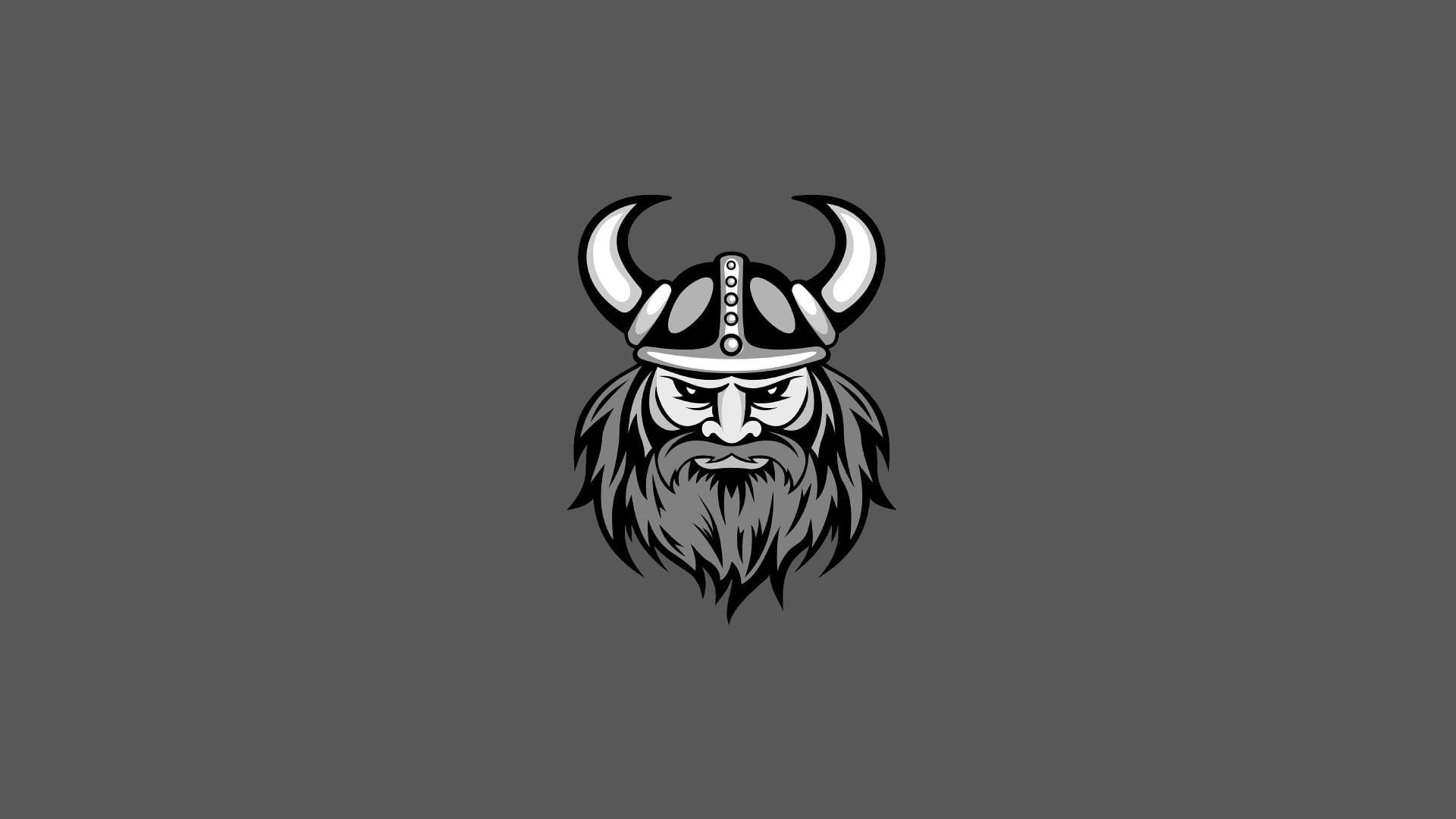 Res: 1920x1080, Minnesota Vikings logo, minimalism, vector, no people, studio shot