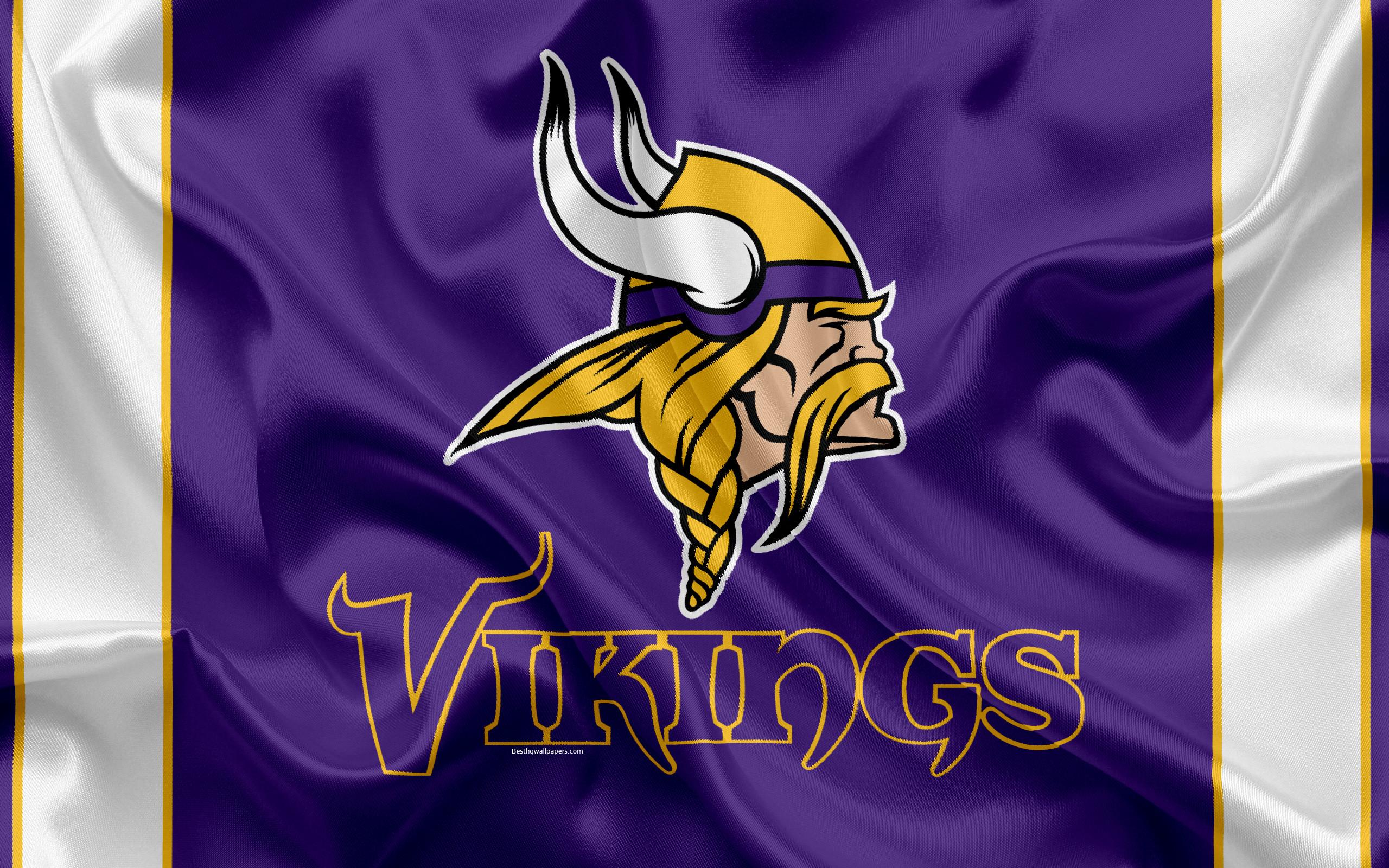 Res: 2560x1600, Minnesota Vikings, American football, logo, emblem, NFL, National Football  League,