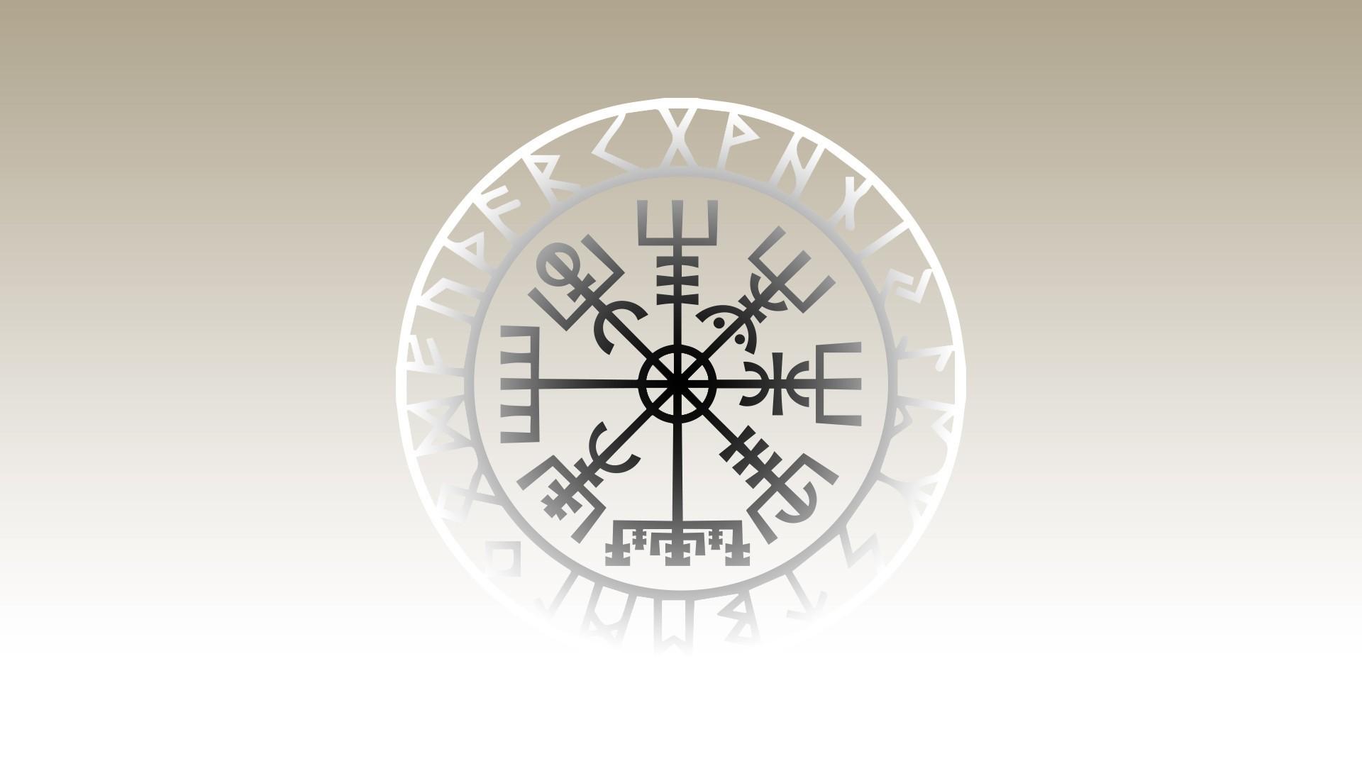Res: 1920x1080, #Vikings, #Vegvísir, wallpaper
