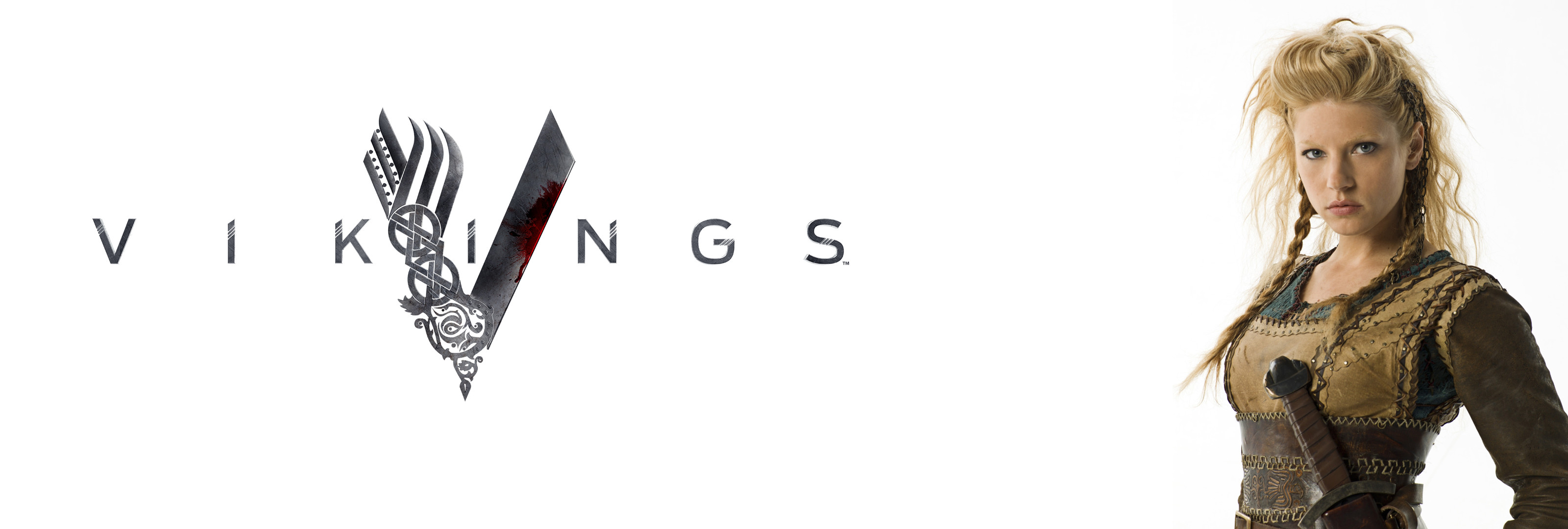 Res: 3200x1080, Download wallpaper from tv series Vikings with tags: Logo, Windows XP, TV  Show, Vikings, Lagertha