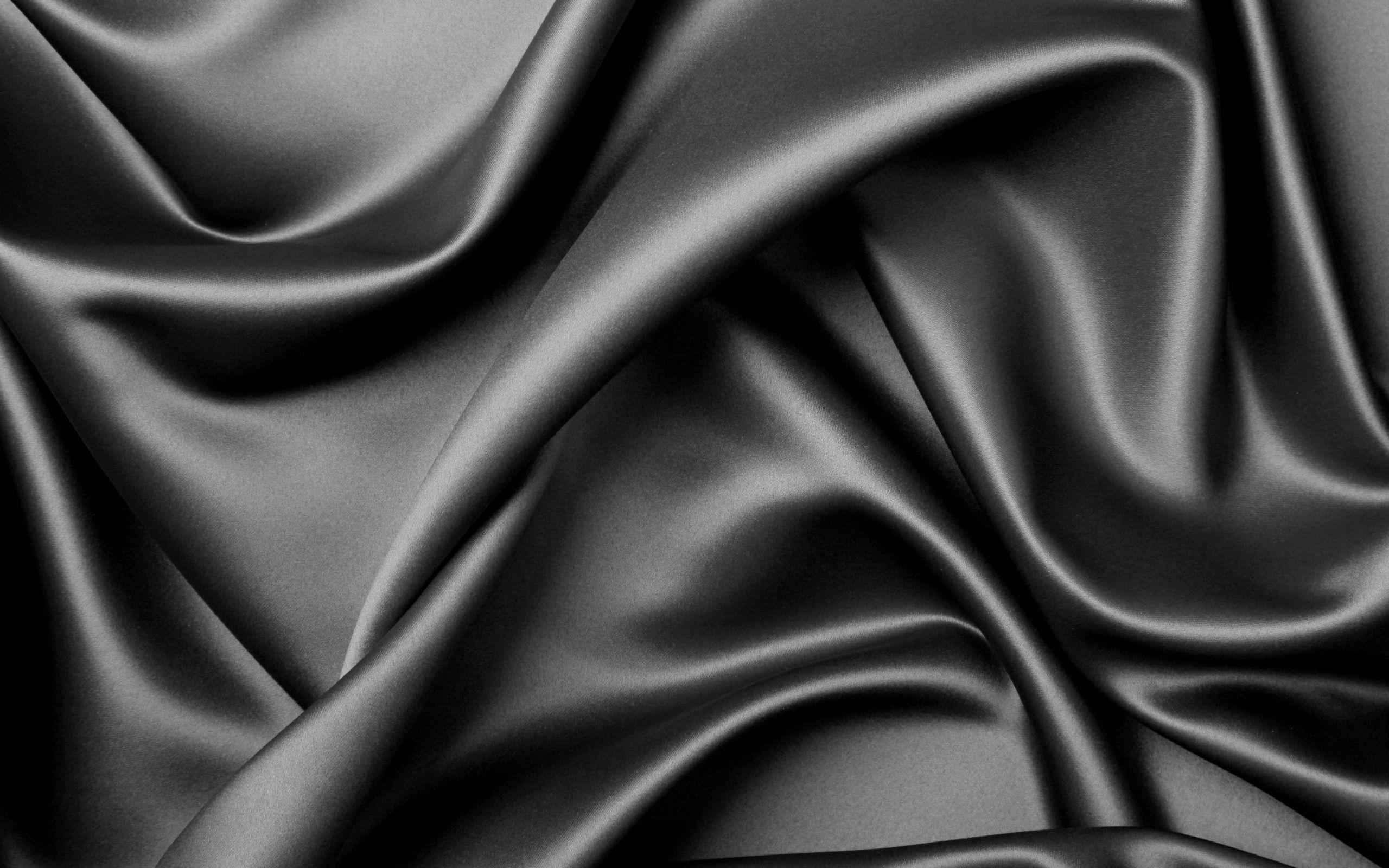 Res: 2560x1600, Black Textures Elegant Silk Theme Wallpaper