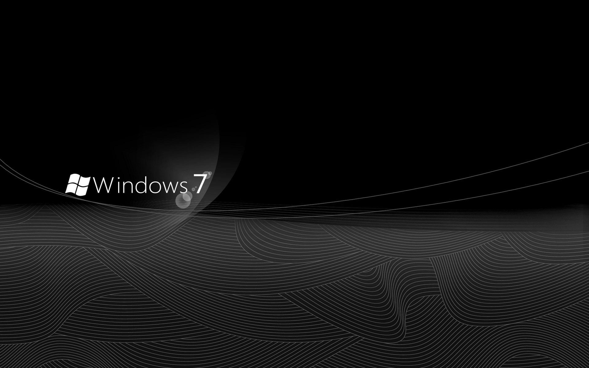 Res: 1920x1200, Windows 7 elegant black desktop wallpaper high quality wallpapers