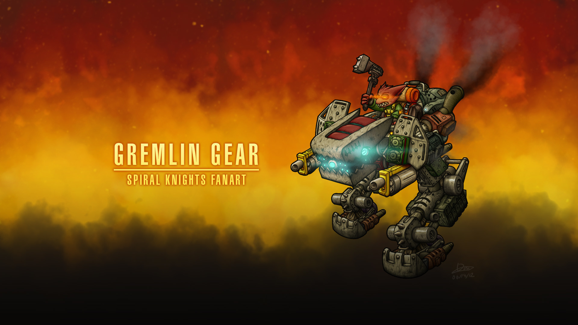 Res: 1920x1080, by AzRaezel Gremlin Gear [Spiral Knights] ::Updated!:: by AzRaezel