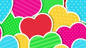Colorful Hearts wallpapers