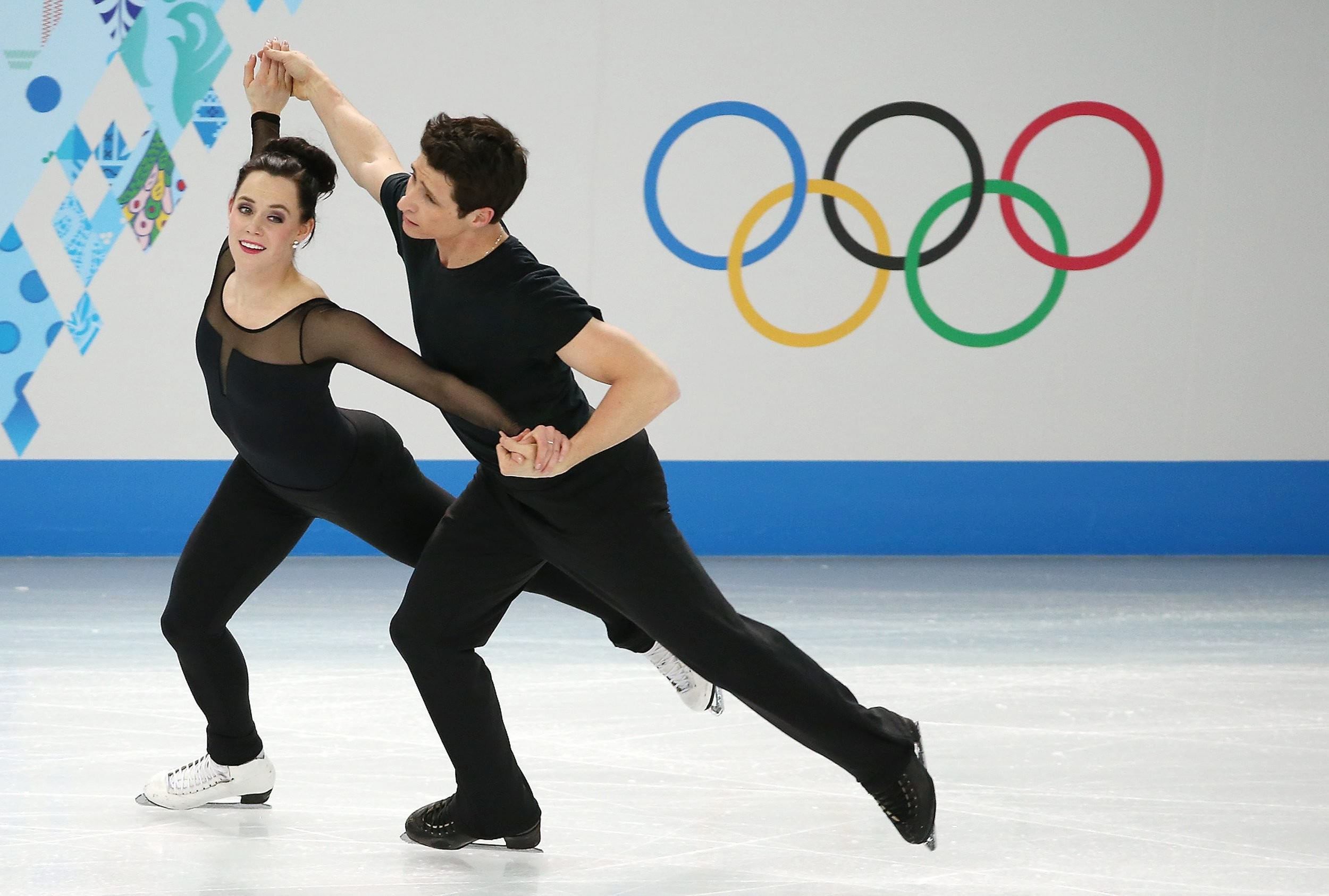 Res: 2500x1686, Tessa Virtue and Scott Moir of Canada perform during an ice dance figure  skating training session