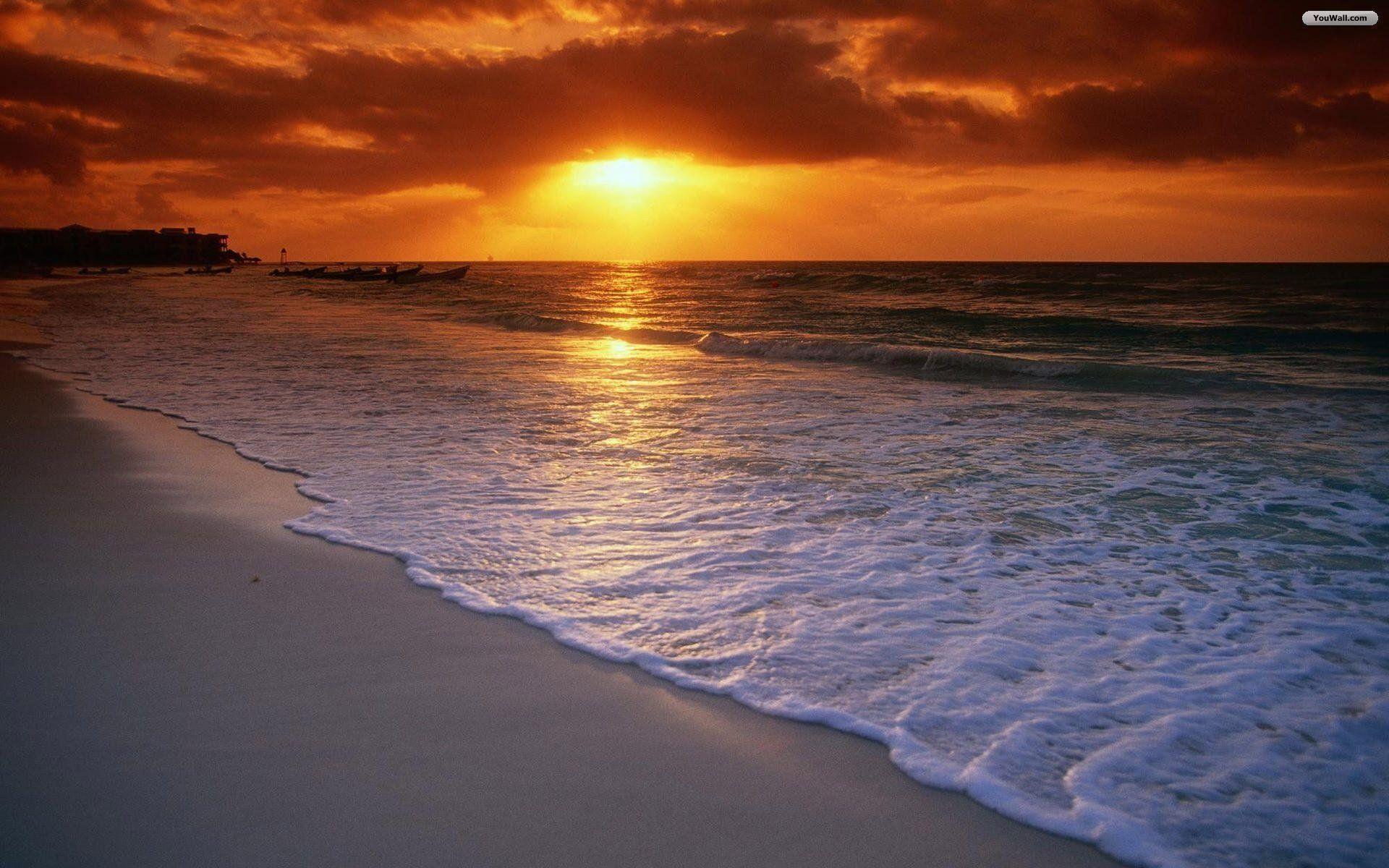 Res: 1920x1200, Beautiful Beach Sunset Wallpaper Free Desktop 8 HD Wallpapers .