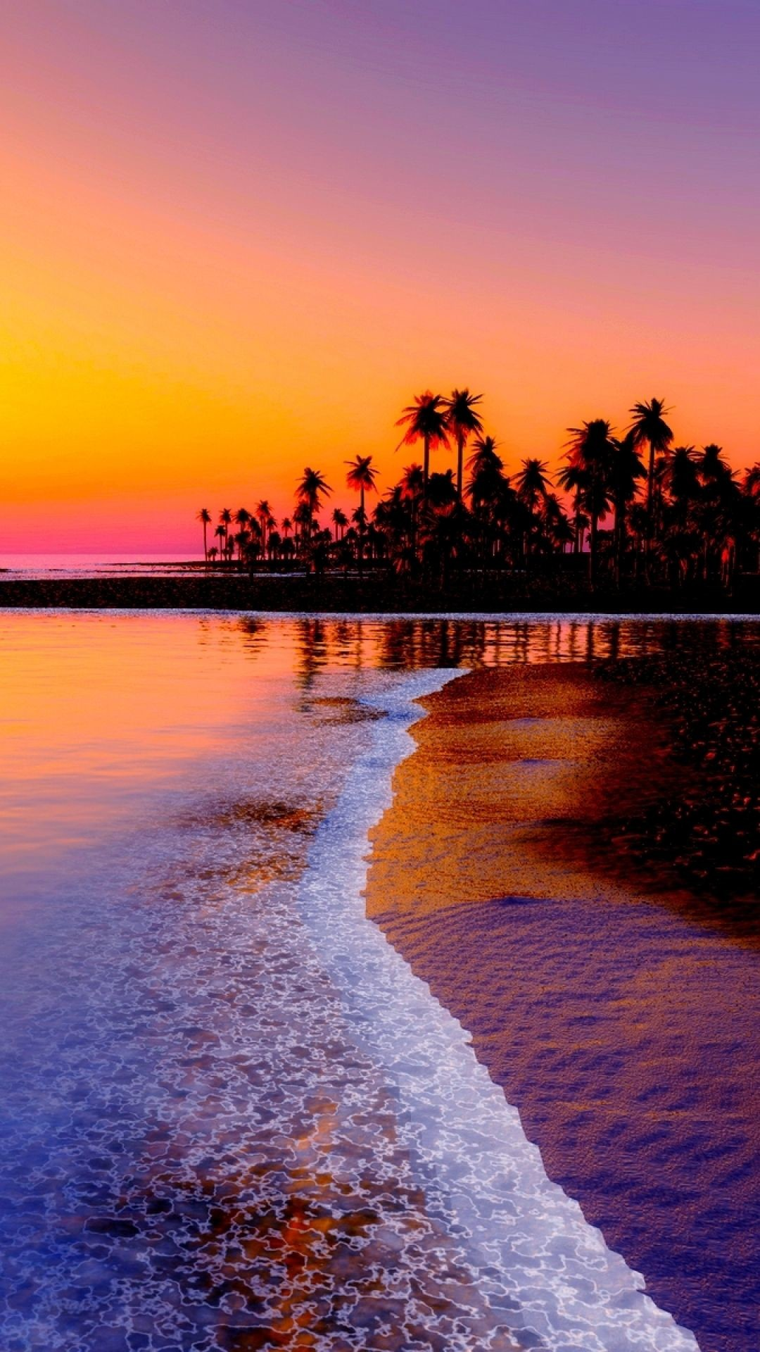 Res: 1080x1920, Beach tropics sea sunset - Tap to see more #sunset wallpapers - @mobile9