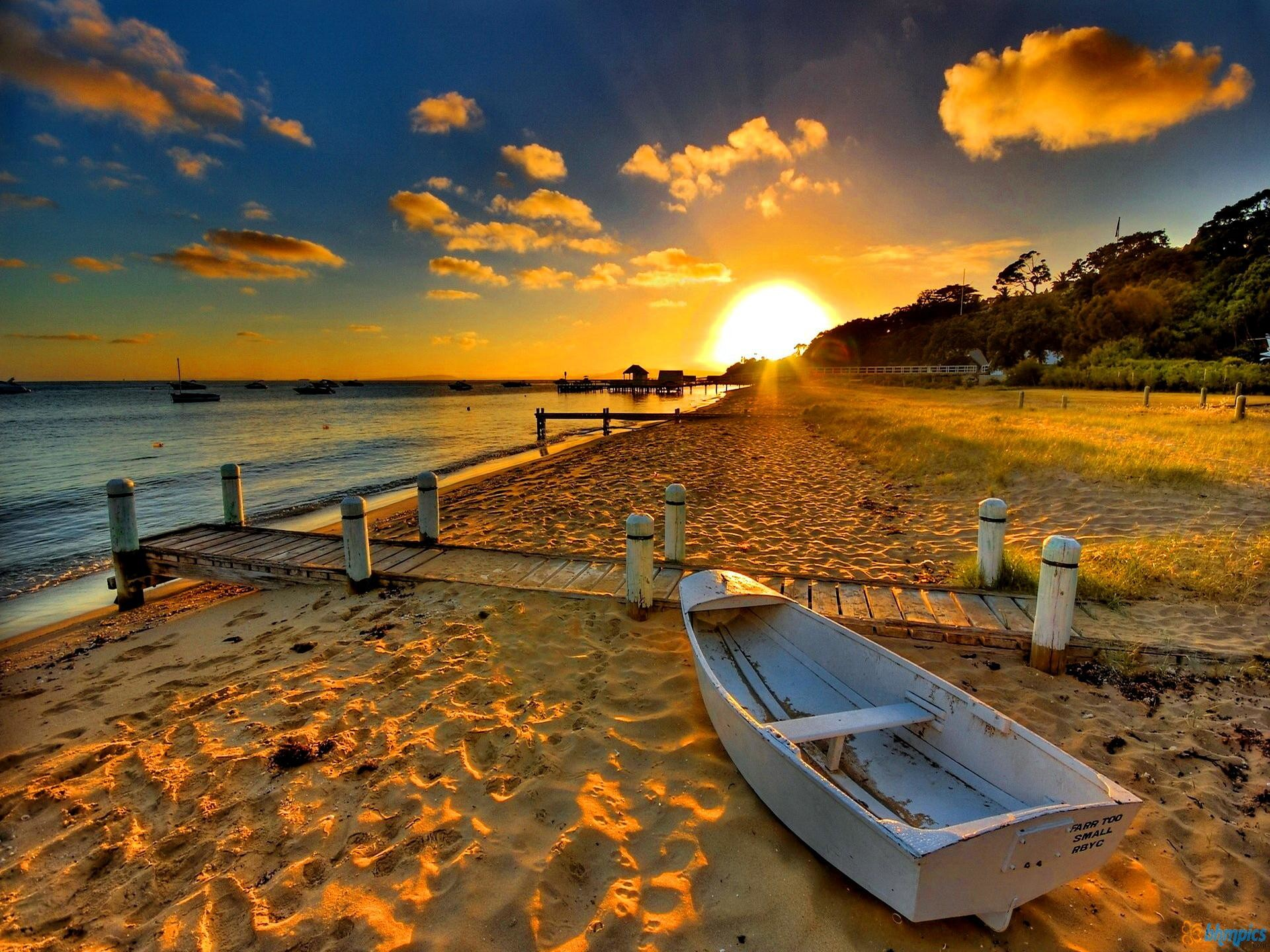 Res: 1920x1440, Beach Sunset Wallpapers - [] ...