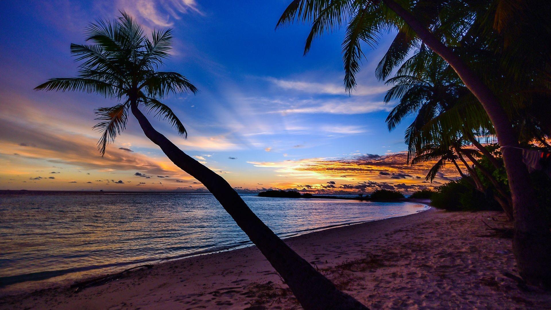 Res: 1920x1080, Beach Sunset Desktop Background