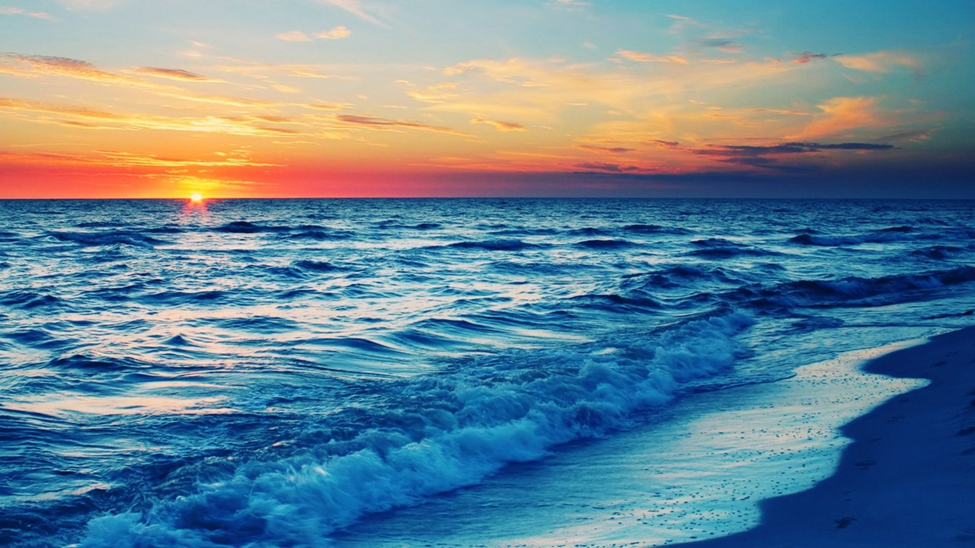 Res: 1920x1080, Beach Sunset Wallpapers Widescreen
