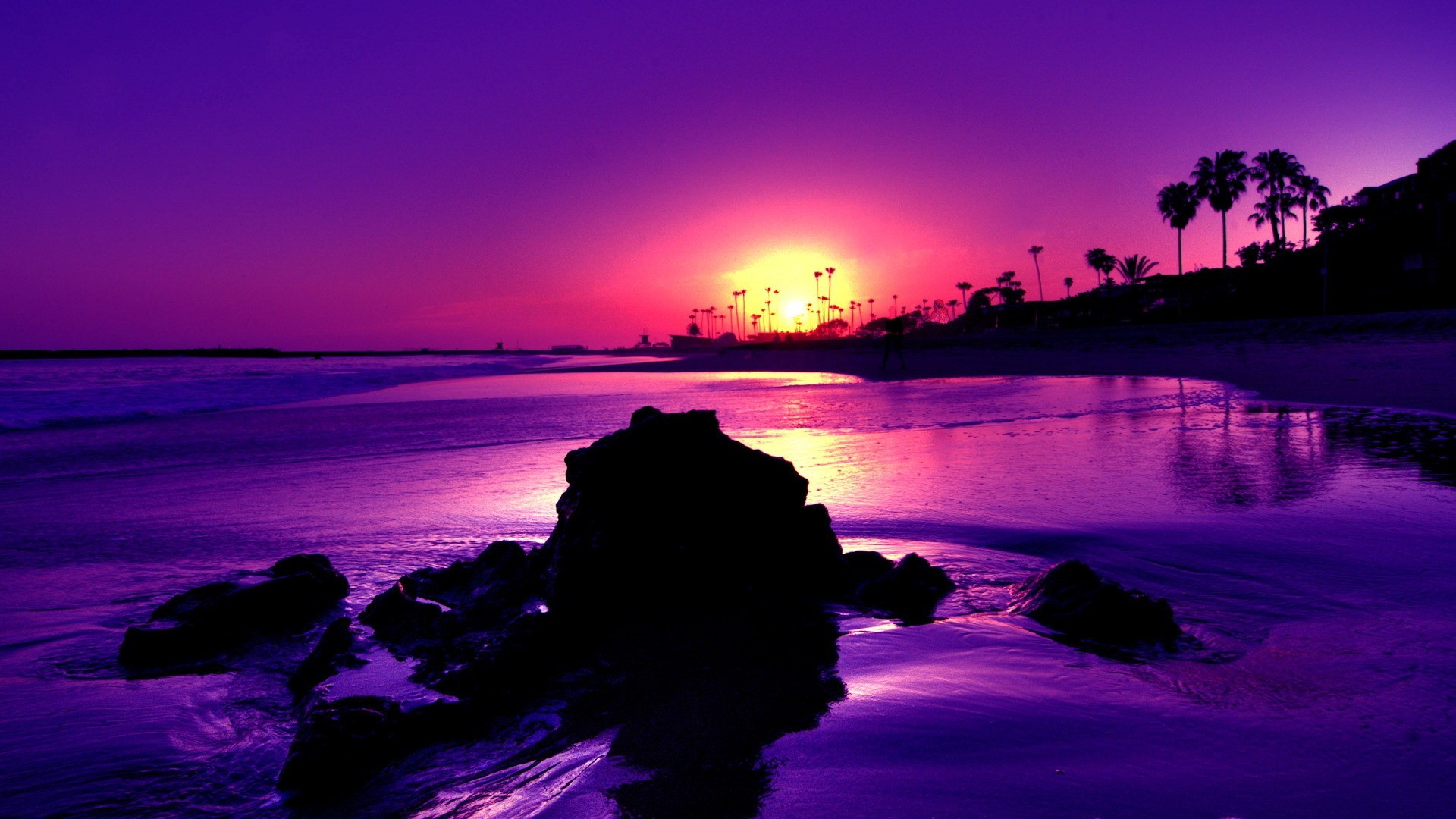 Res: 1920x1080, Perfect 66 Purple Beach Sunset Wallpaper Iphone For Desktop PC laptop  Android Desktop Iphone and Tablet