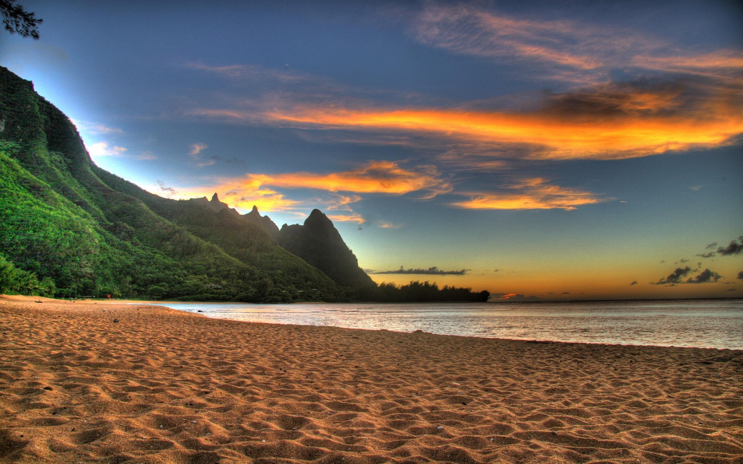 Res: 2560x1600, Beach Sunset Wallpaper 14 - 2560 X 1600