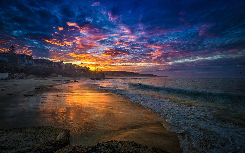 Res: 2880x1800, EXS Beach Sunset Wallpaper Desktop Awesome Beach Sunset