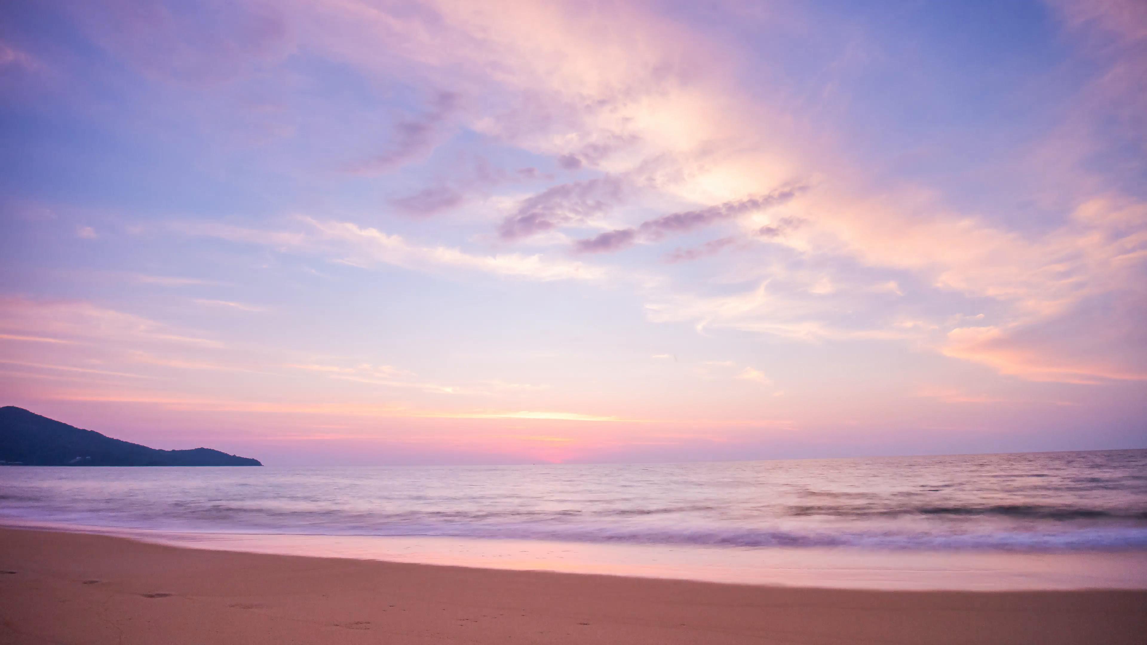 Res: 3840x2160, beach sunset wallpaper hd photo - 1
