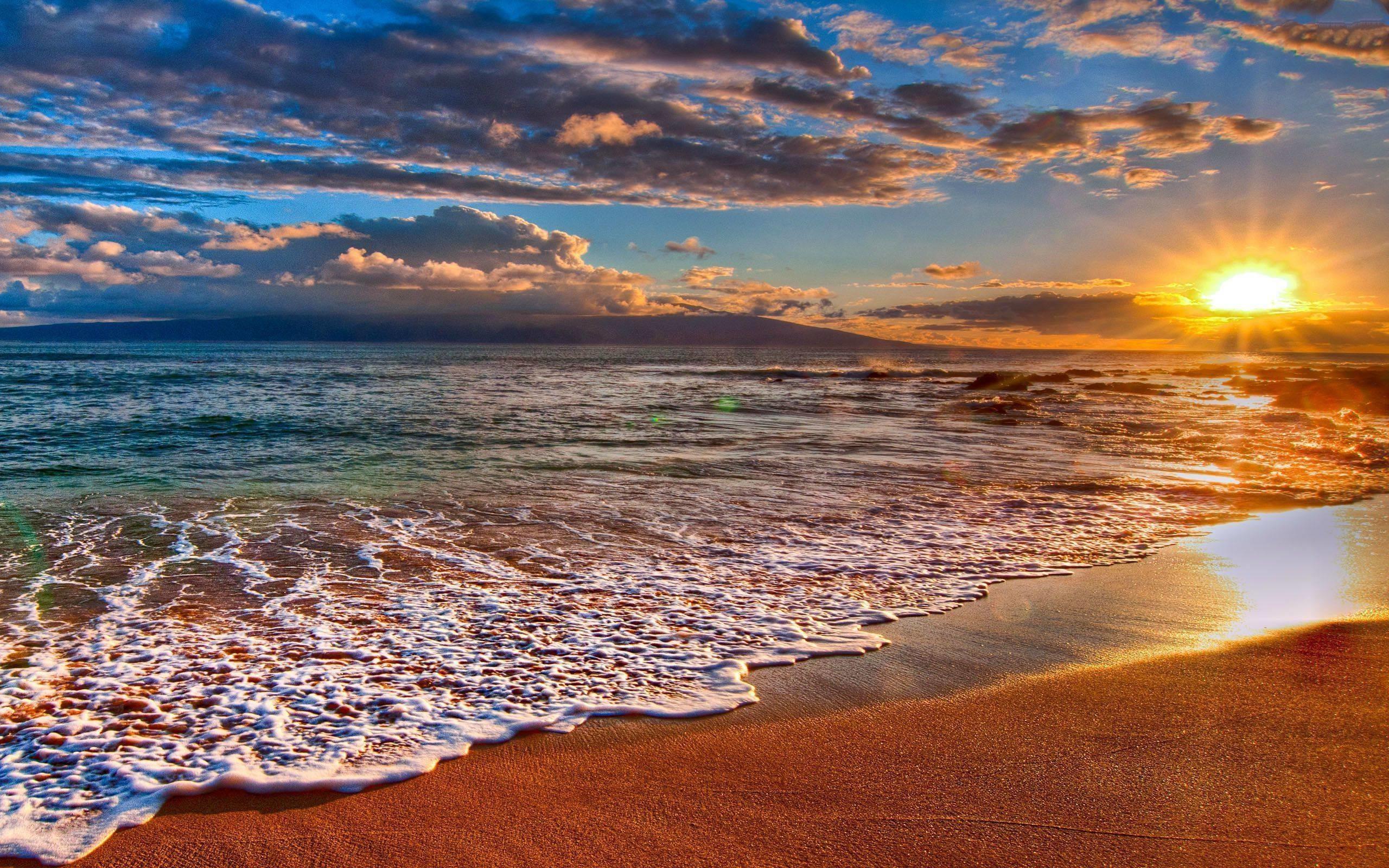 Res: 2560x1600, Desktop Backgrounds Beach Sunset