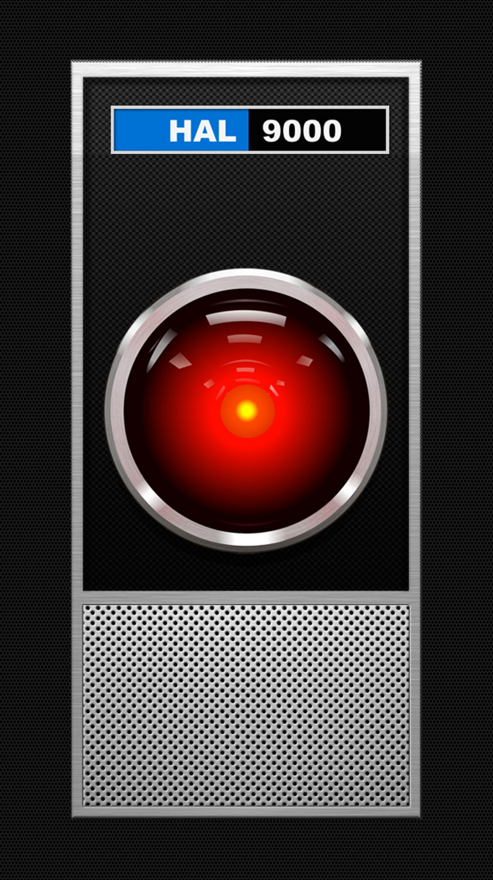 Res: 1579x2820, 2001 HAL9000 Interface Active Lock Screen Wallpaper for iPhone X Parallax  View. Time Fits perfectly into black area between Logo and Lens.