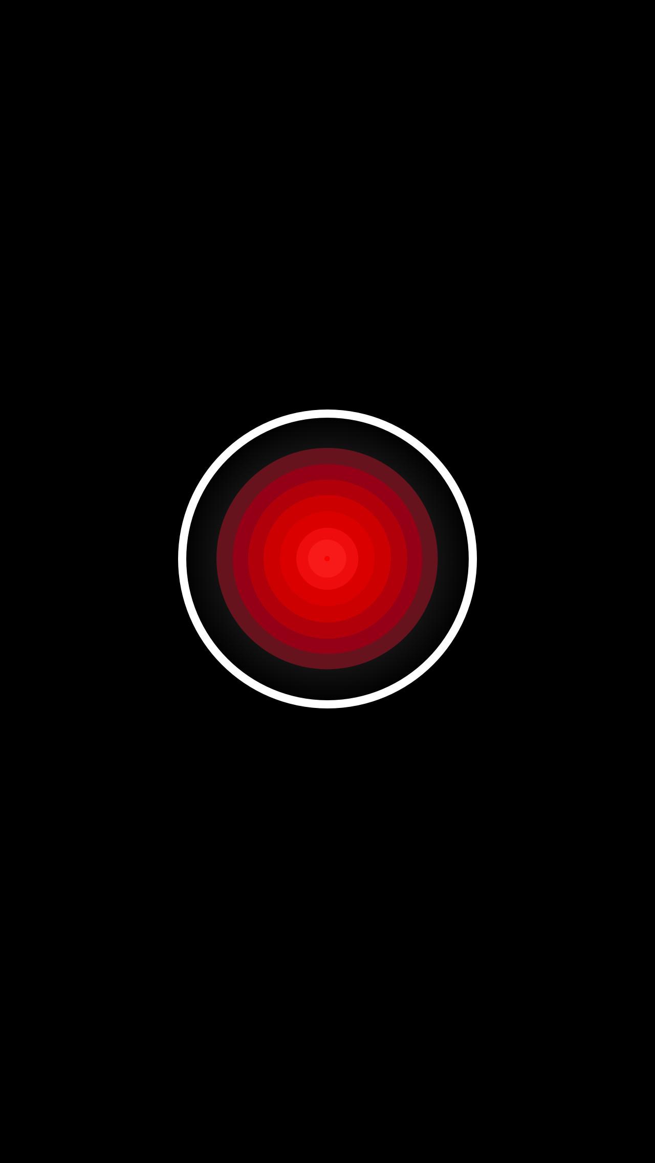 "Res: 1280x2272, ""HAL 9000 - iOS Lockscreen Wallpaper "" von Philipp"