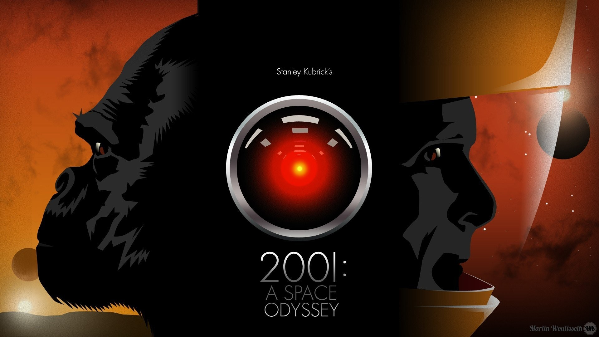 Res: 1920x1080, 2001: A Space Odyssey, HAL 9000