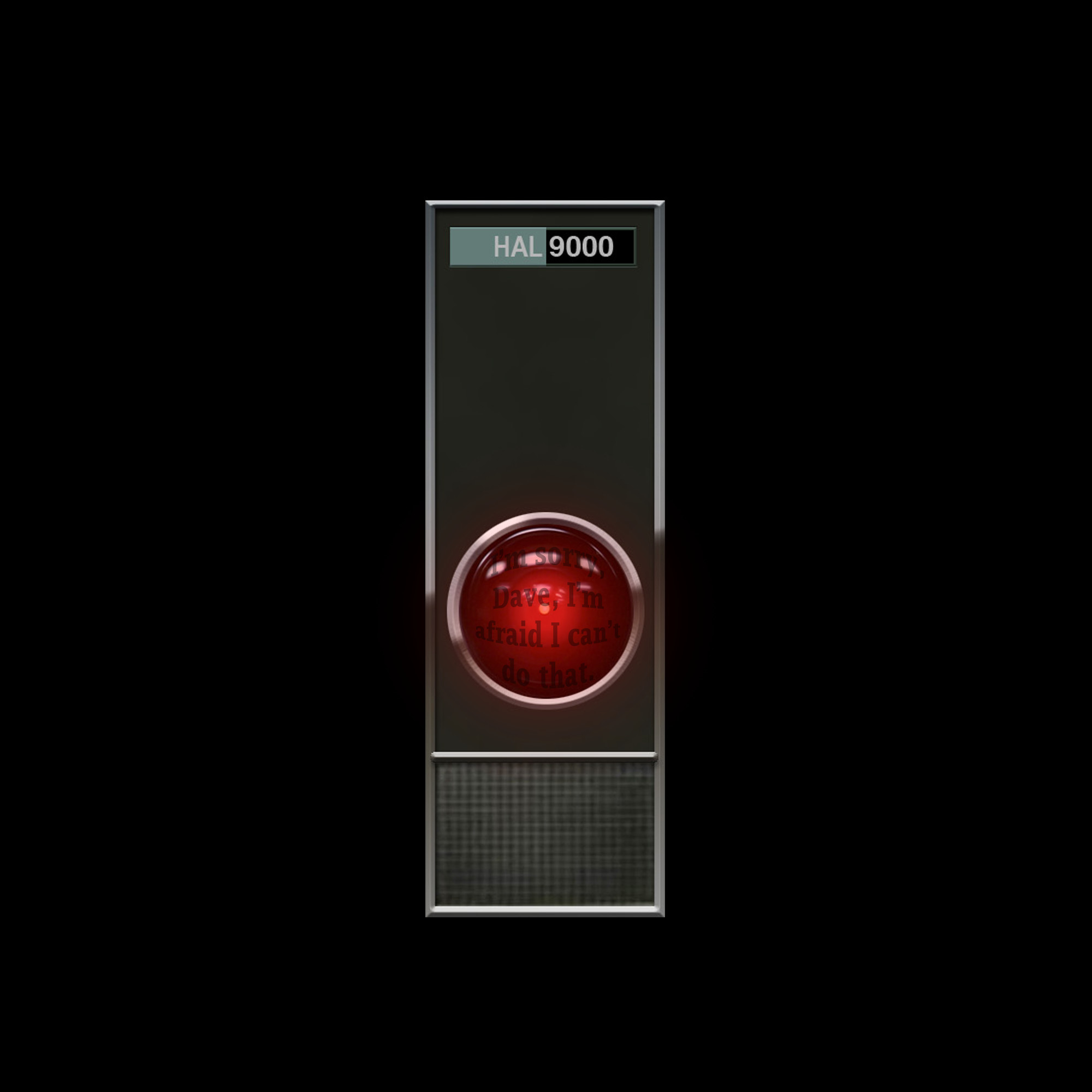 Res: 2000x2000, HAL 9000 by Schritt HAL 9000 by Schritt