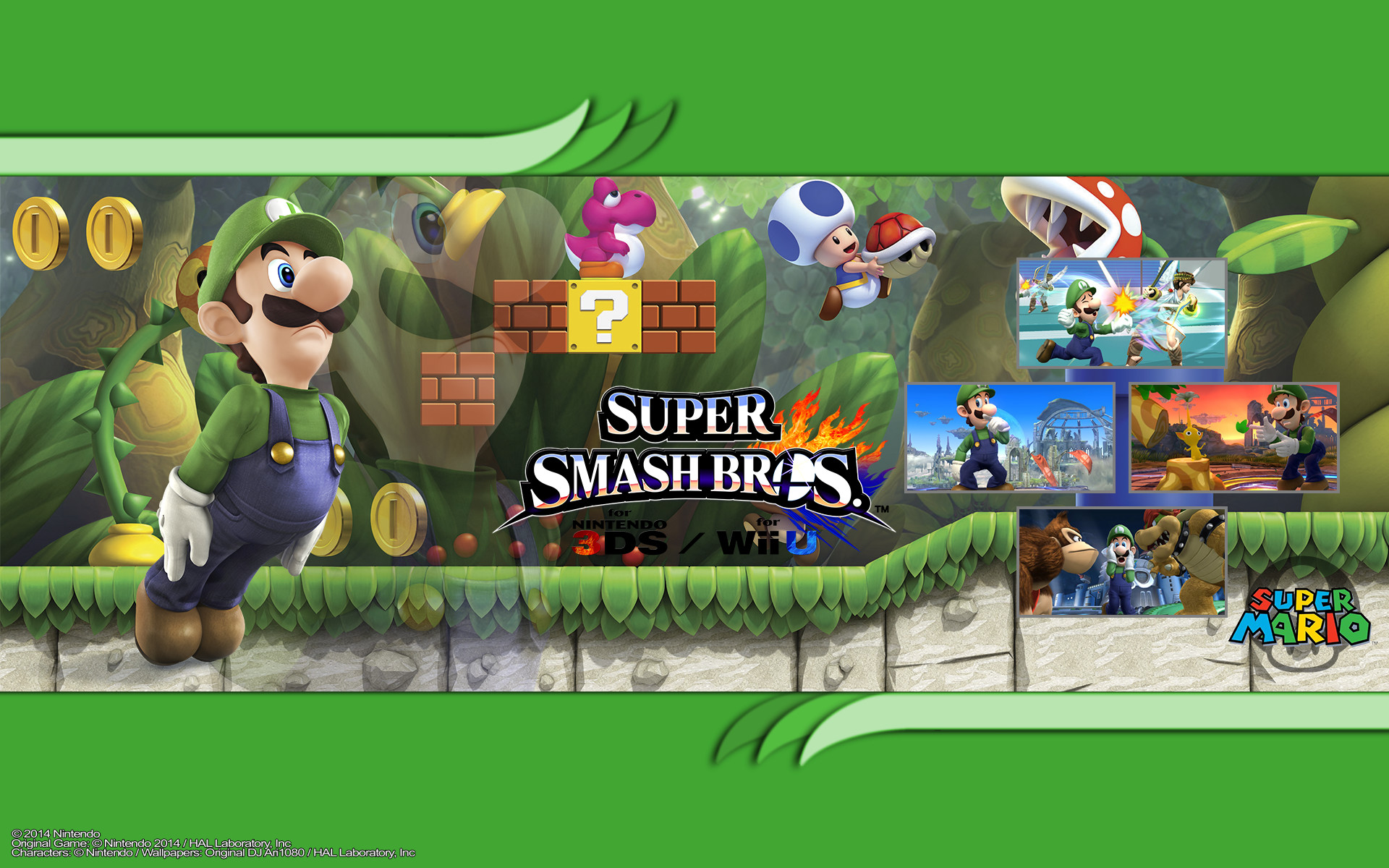Res: 1920x1200, New Super Luigi U HD Wallpaper 7 - 1920 X 1200
