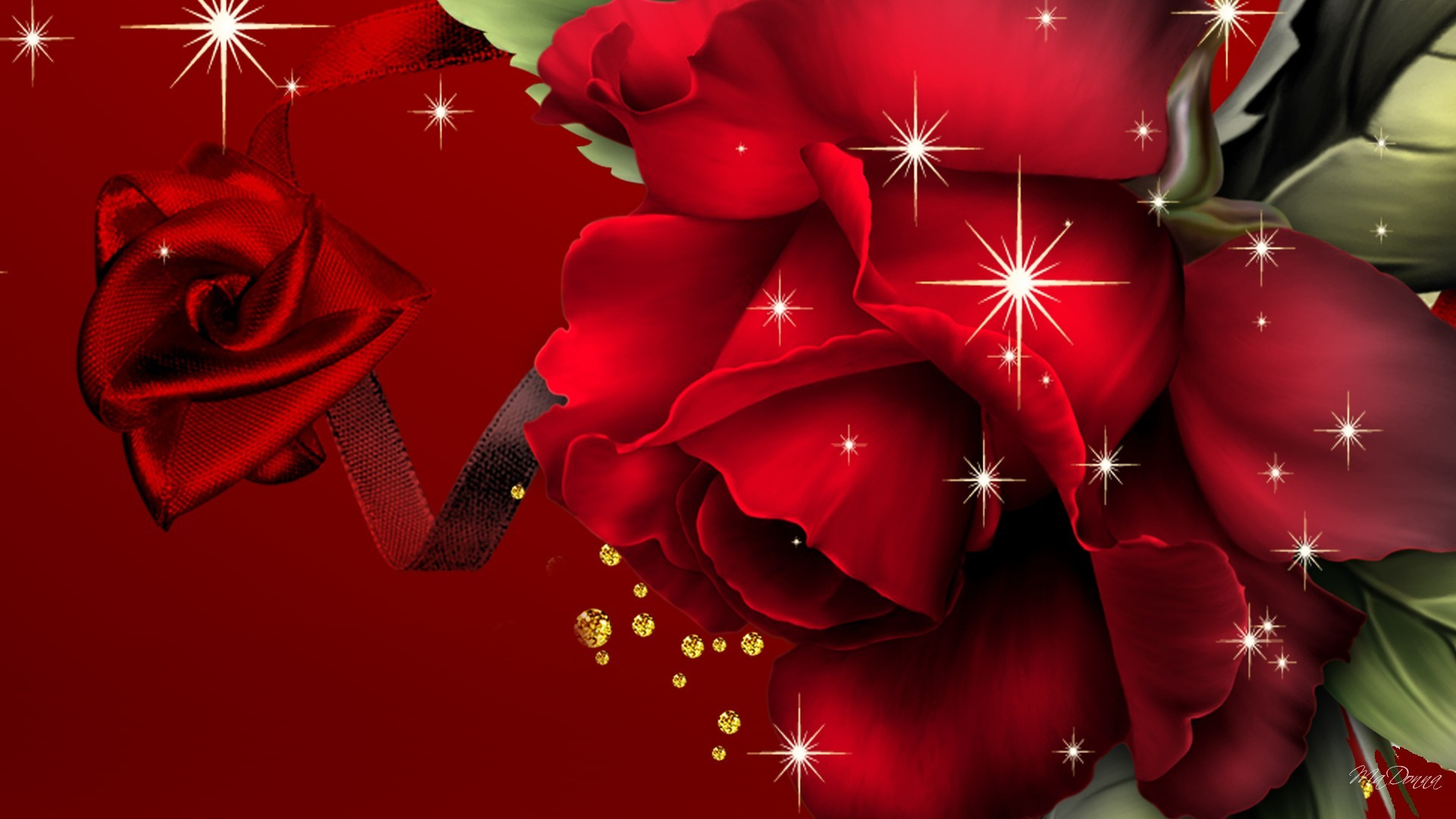 Res: 1920x1080, big-red-roses-free-wallpapers-hd