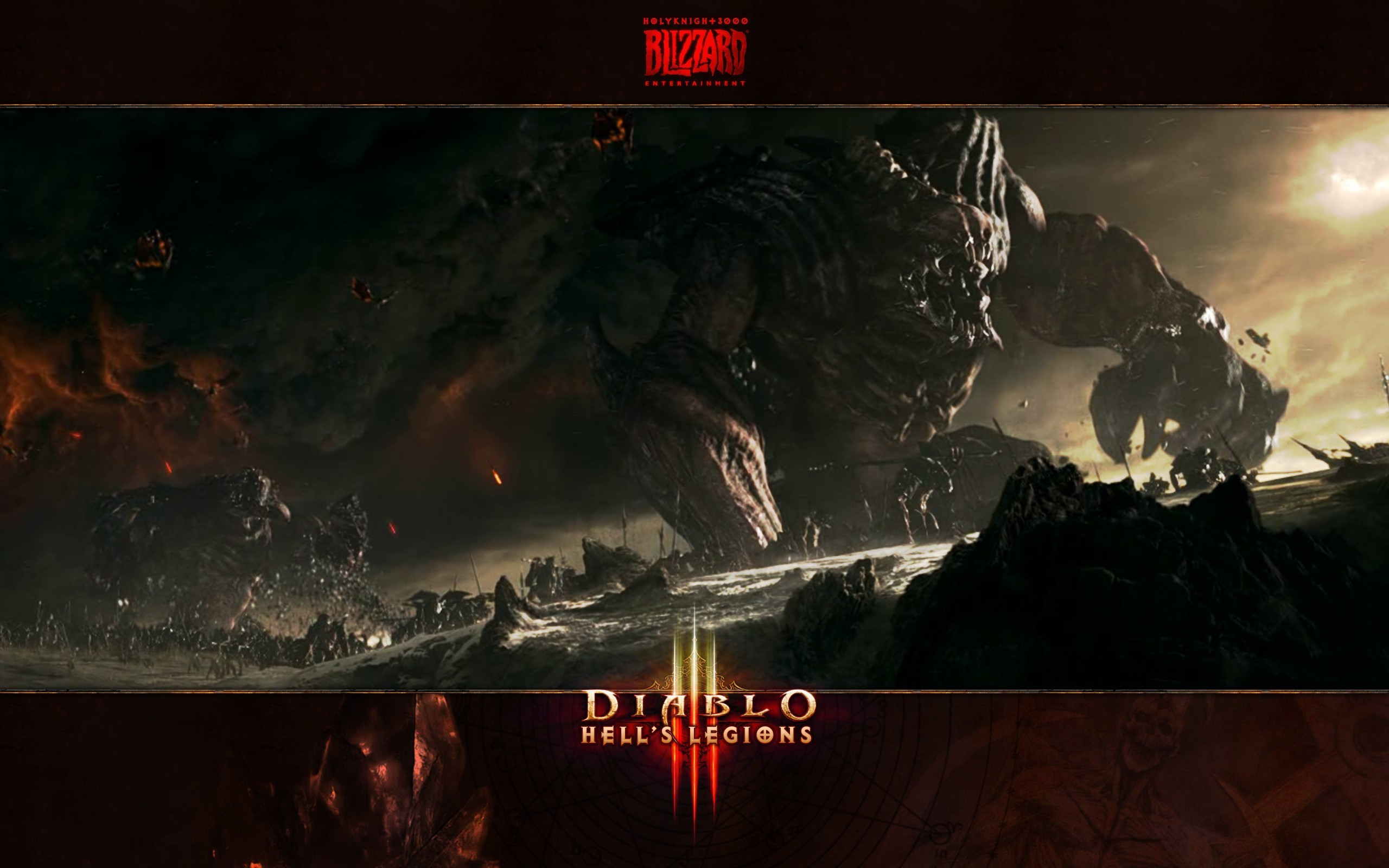 Res: 2560x1600, Blizzard entertainment diablo iii hell black wallpaper