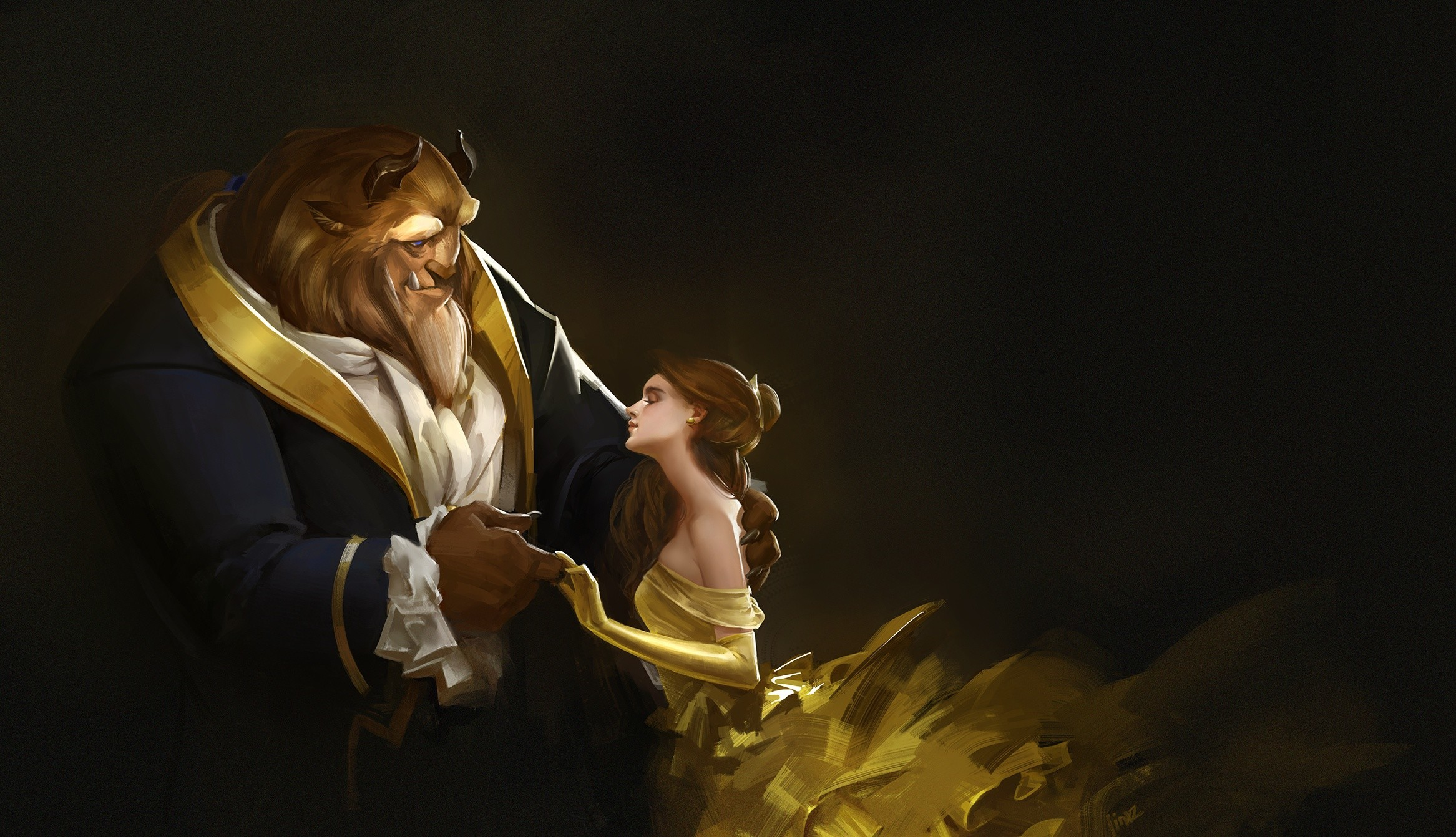 Res: 2333x1342, 1920x1080 Entertainment Wallpapers.com images Beauty And The Beast HD  wallpaper and background photos