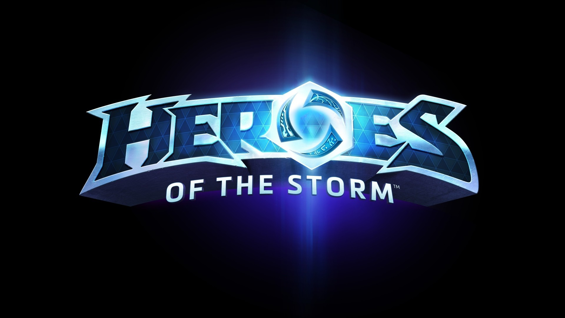 Res: 1920x1080,   Wallpaper heroes of the storm, blizzard entertainment,  blue, logo