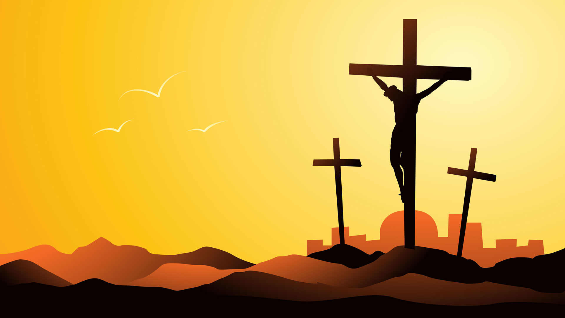 Res: 1920x1080, Crucifixion Seasonal Wallpaper Image featuring Easter