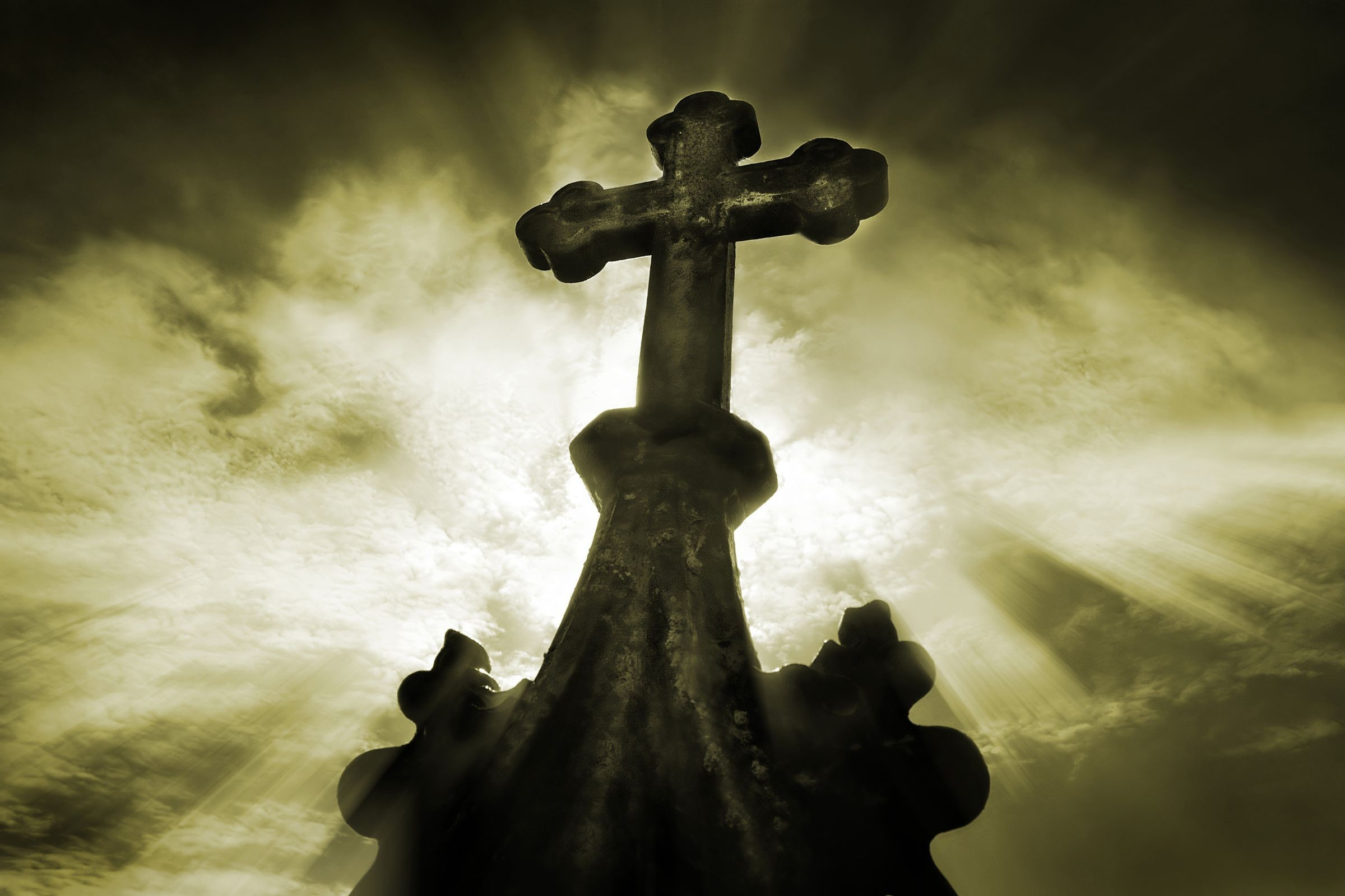 Res: 2400x1600, Gorgeous, Gothic steeple Cross Wallpaper, Cross Symbol, The Cross Of  Christ, Christian