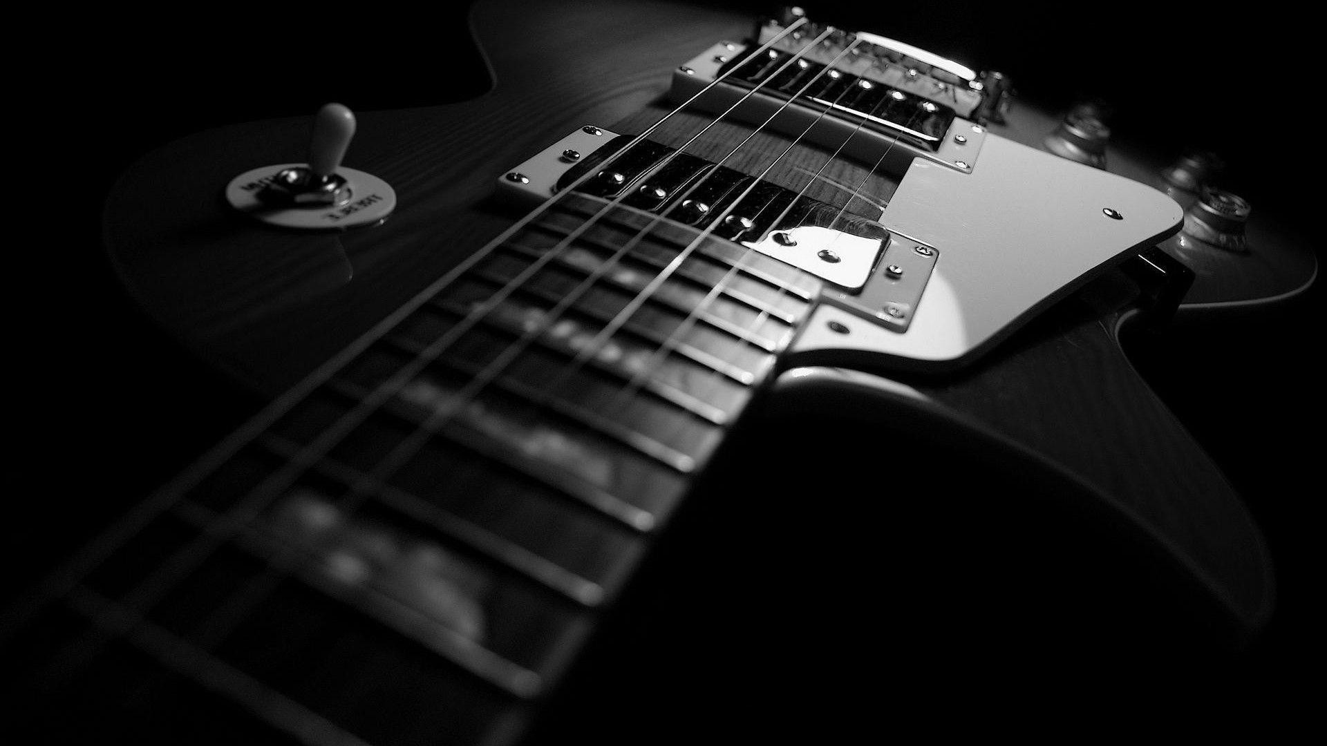 Res: 1920x1080, Wallpaper HD 1080p Black And White Guitar - Tuffboys.com