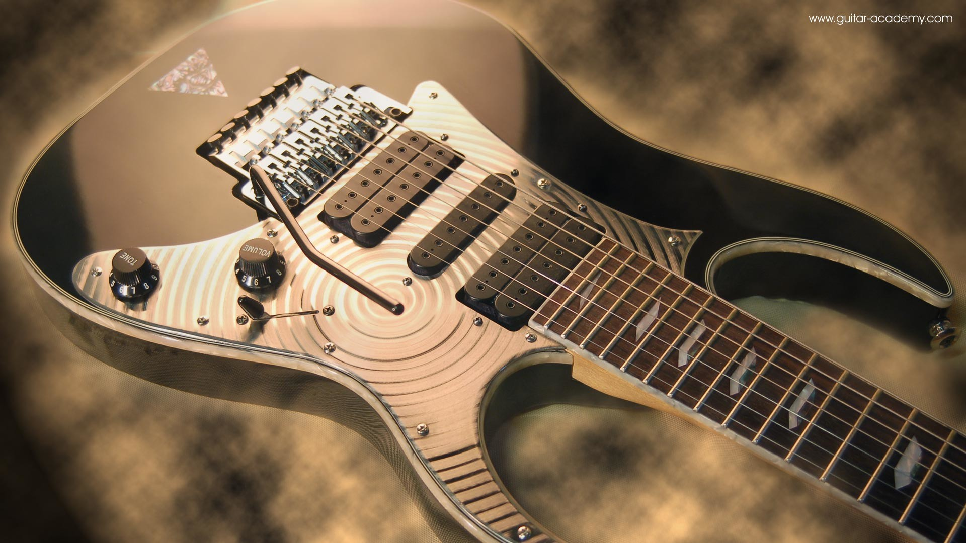 Res: 1920x1080, Guitar wallpaper, Ibanez Universe 7 string guitar body, custom scratchplate