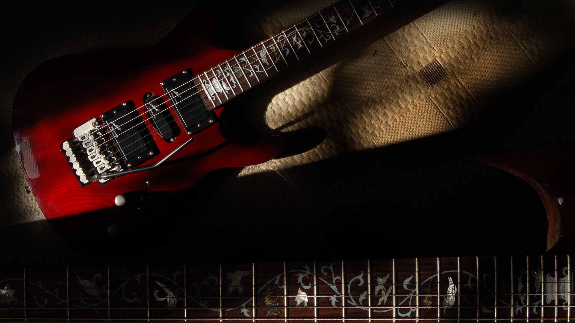 Res: 1920x1080, Guitar wallpaper, Shine Sil 62 electric guitar