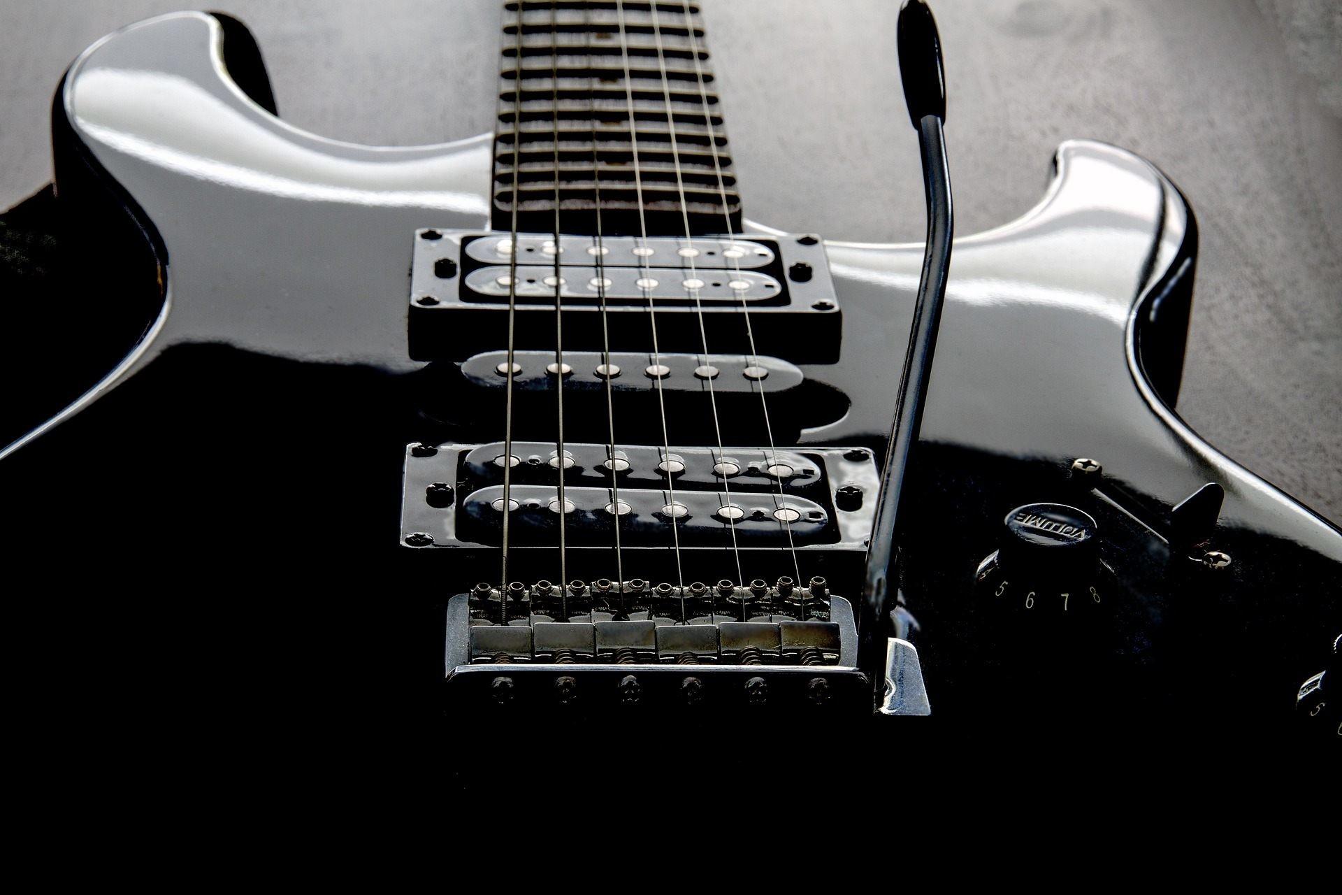 Res: 1920x1280, Dark black guitar wallpaper hd free