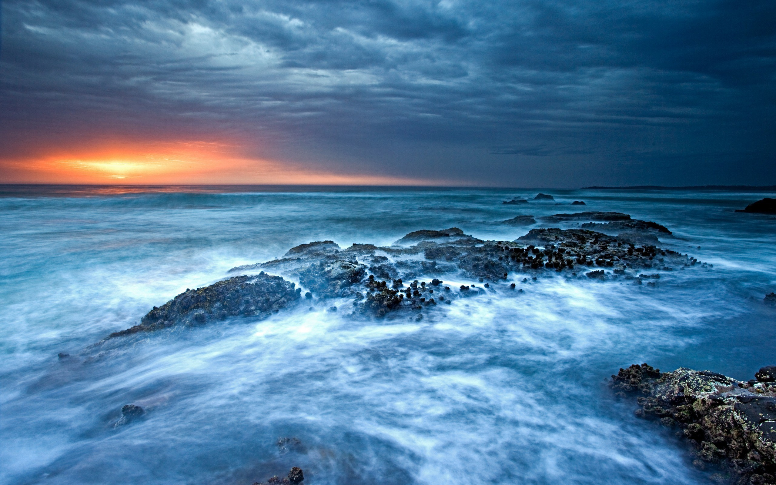 Res: 2560x1600, Ocean Waves Sunset Wallpapers First HD Wallpapers