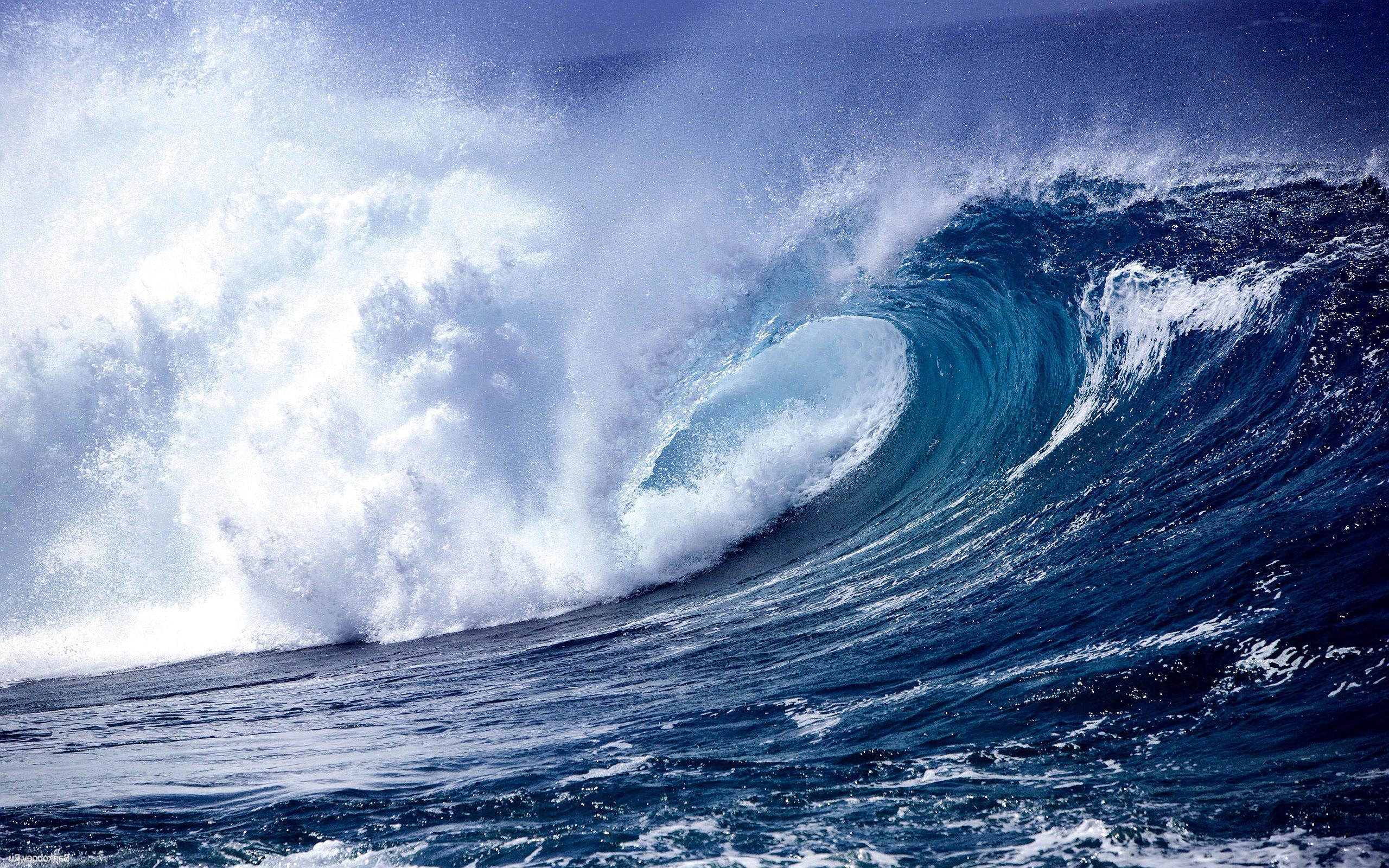 Res: 2560x1600, Sea Waves Desktop Wallpapers