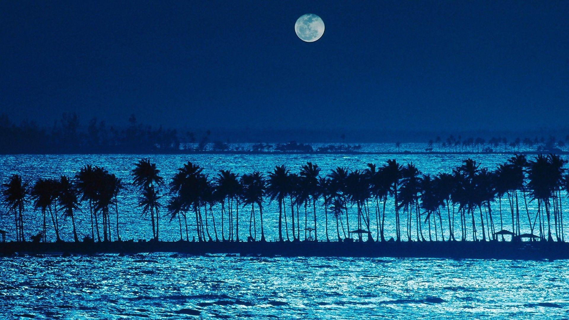 "Res: 1920x1080, 1024x768 Ocean: Moon Ocean Hd Wallpaper For Pc for HD 16:9 High Definition  ..."">"