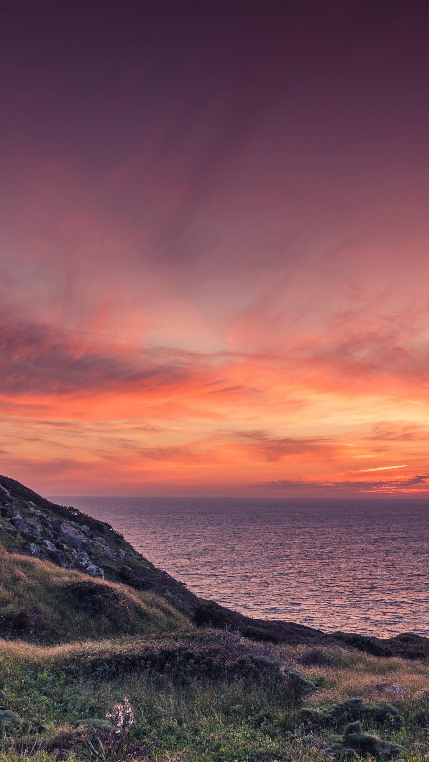 Res: 1440x2560, Ocean Sunset