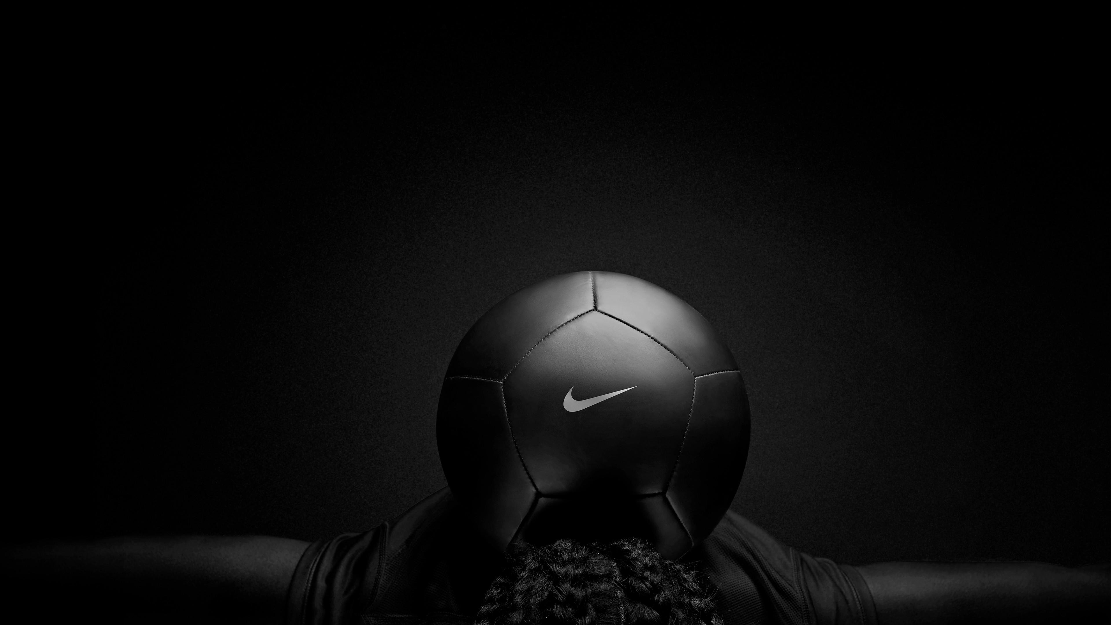 Res: 3840x2160, Nike Black Play Football