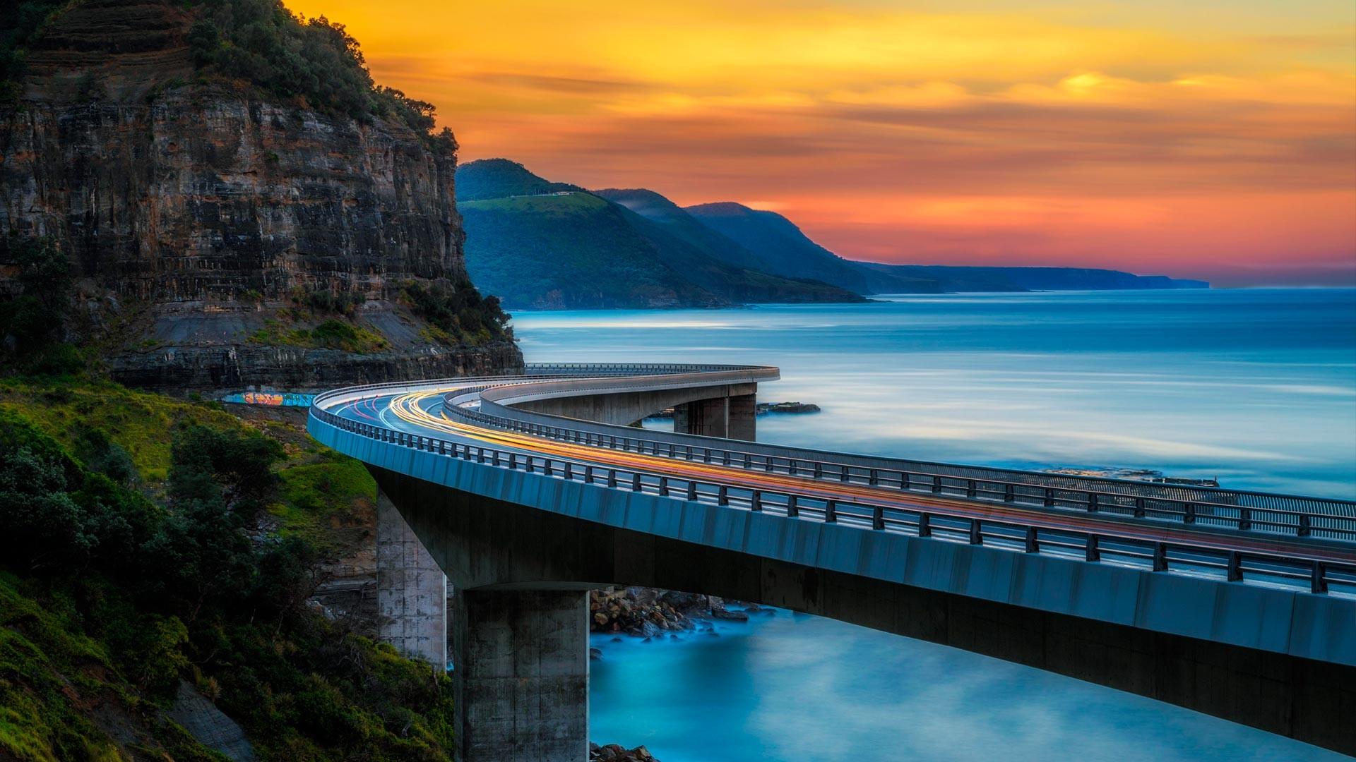 Res: 1920x1080, Sea Cliff Bridge from Bing.com