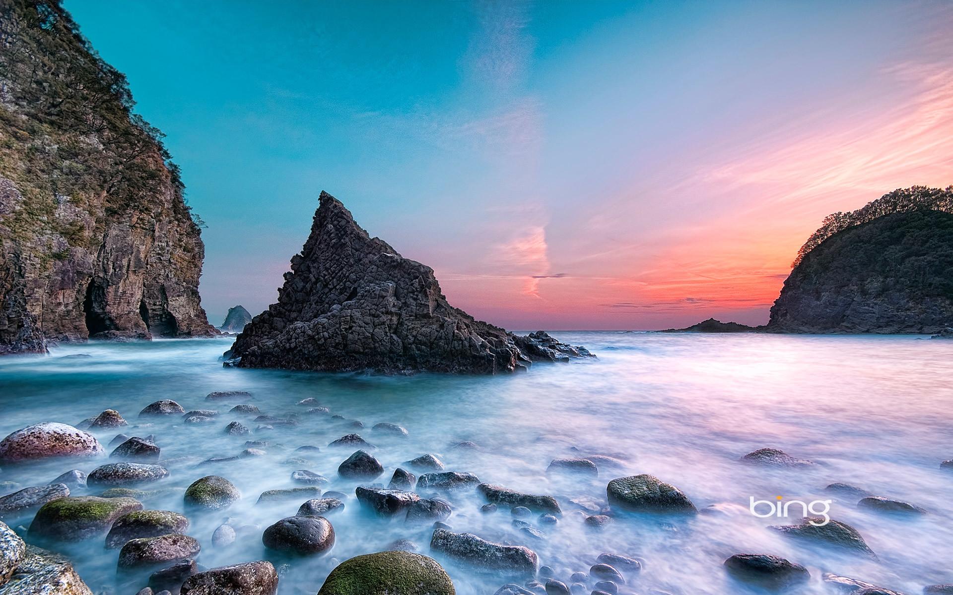 Res: 1920x1200, sunset at futo beach japan