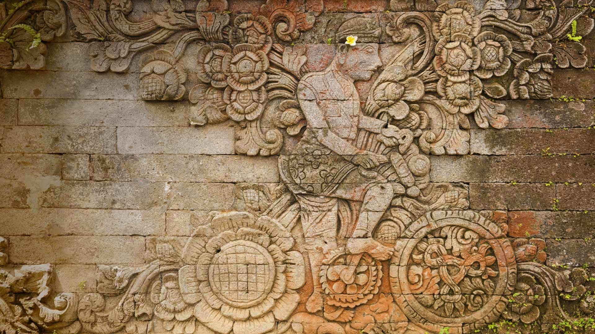 Res: 1920x1080, ... [Bing daily homepage wallpaper ] A carving of artist W.O.J.  Nieuwenkamp in the Pura Meduwe Karang temple in Bali, ...