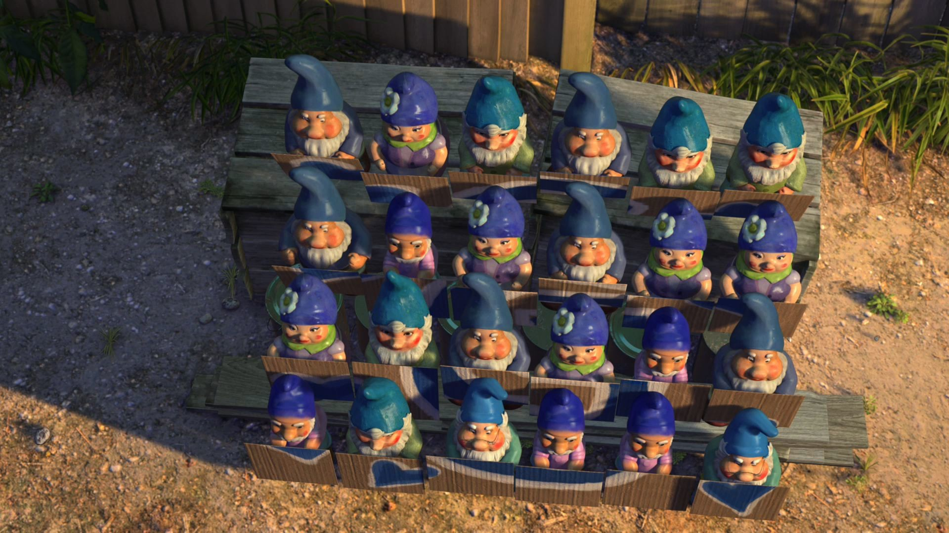 Res: 1920x1080, Blue Garden Gnomes from Gnomeo and Juliet wallpaper - Click picture for  high resolution HD wallpaper
