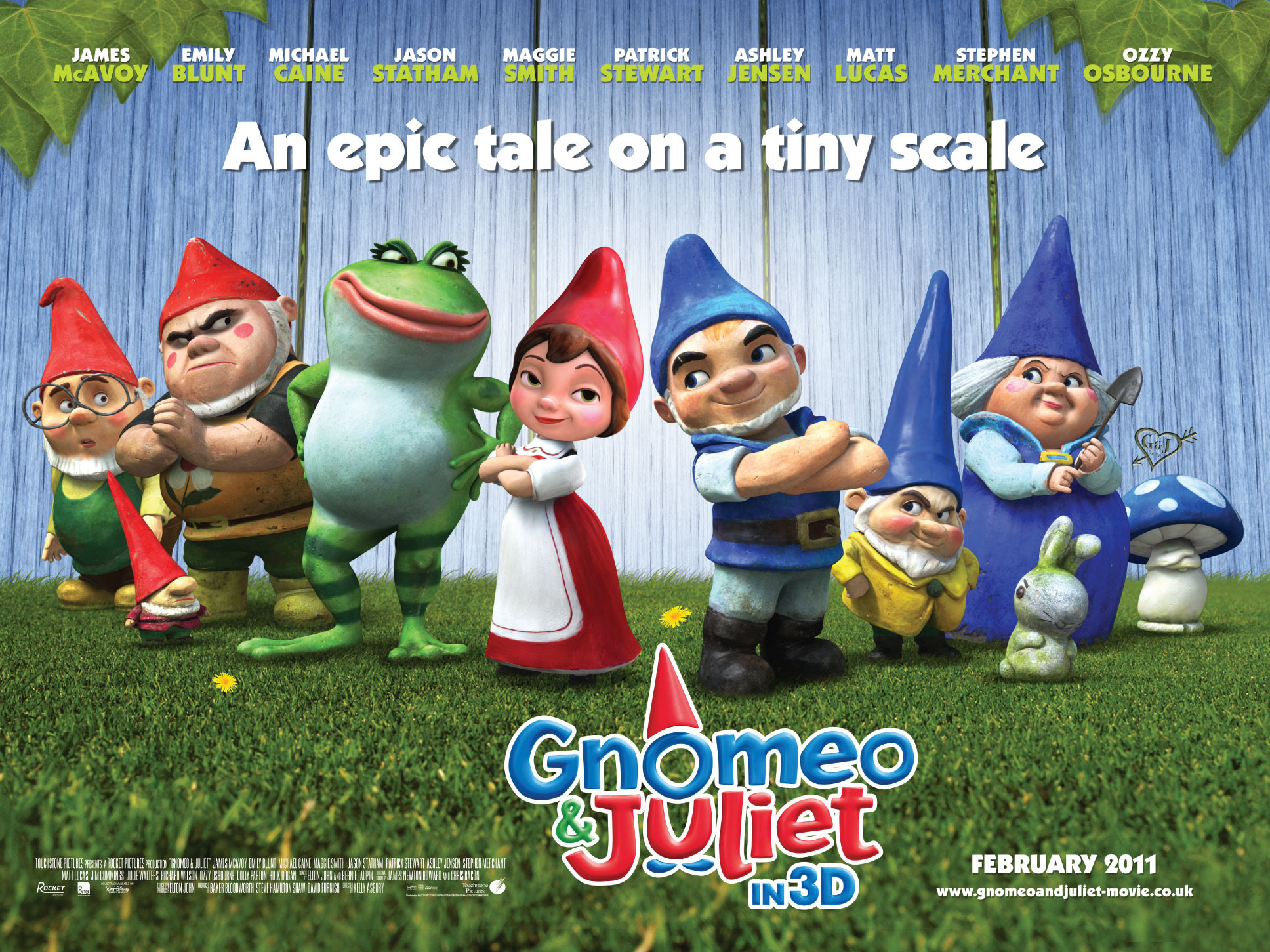 Res: 1936x1451, Cast of Gnomeo and Juliet Movie Poster Wallpaper