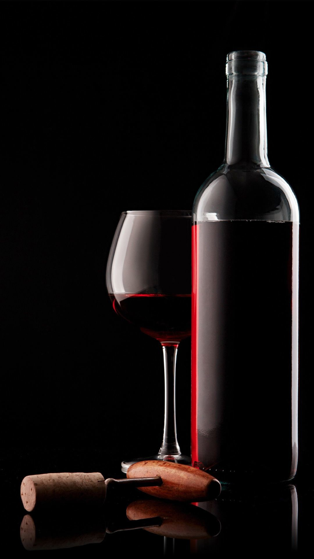 Res: 1080x1920, Red Wine Glass Bottle And Corkscrew #iPhone #6 #wallpaper